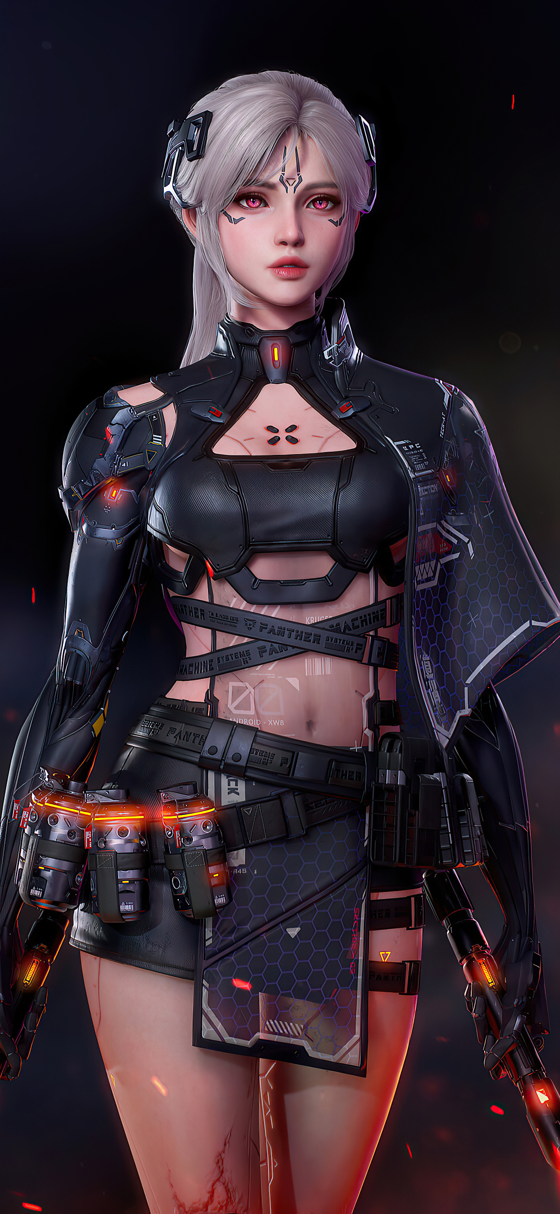 1125x2436 Cyberpunk Girl Arm 4k Iphone XS,Iphone 10,Iphone ...
