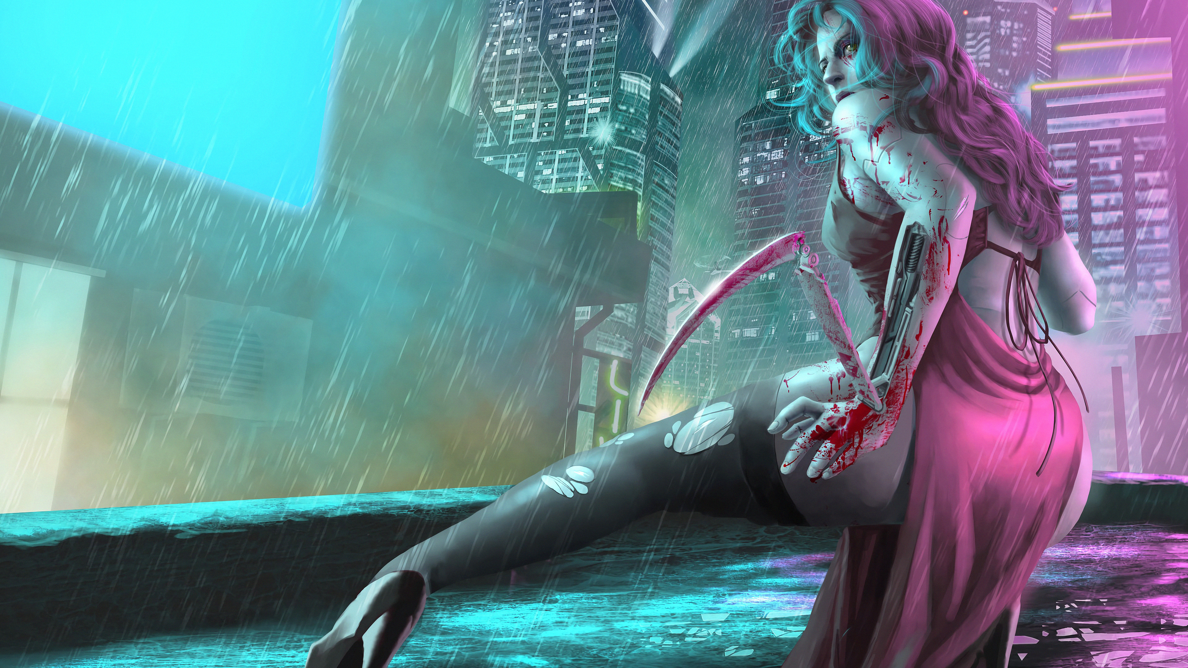 3840x2160 Cyberpunk Girl Art 4k HD 4k Wallpapers, Images ...