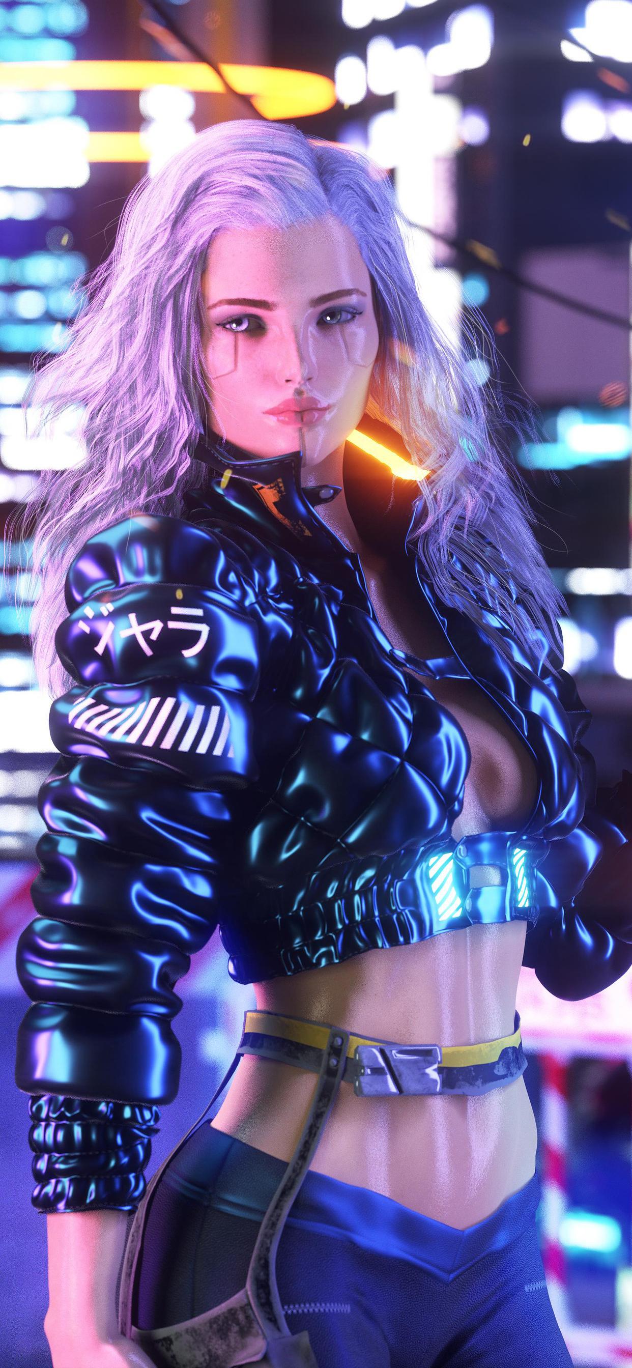 1242x2688 Cyberpunk Girl With Gun Artwork Iphone XS MAX HD ...