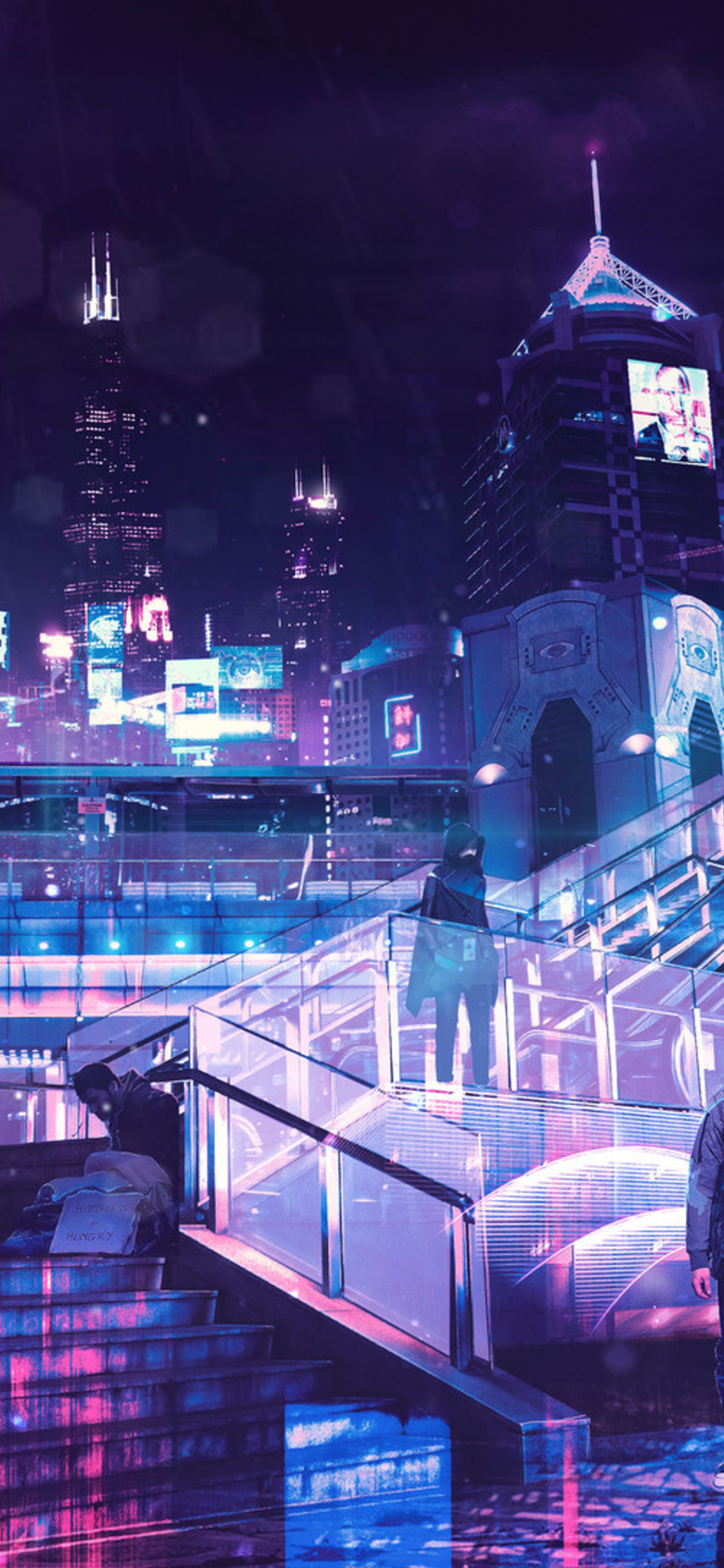 1125x2436 Cyberpunk Neon City Iphone Xs Iphone 10 Iphone X Hd 4k Wallpapers Images Backgrounds Photos And Pictures