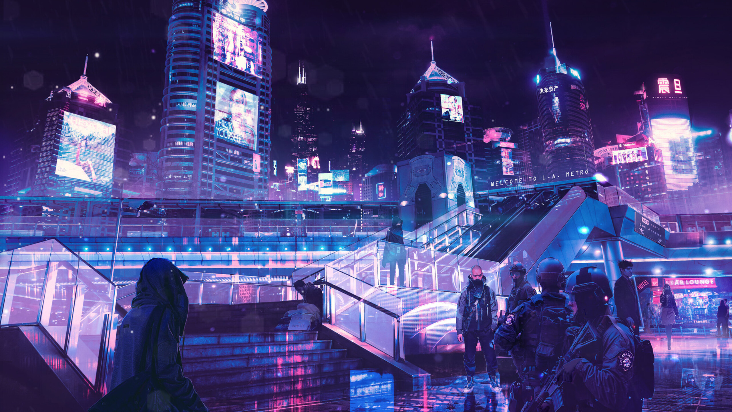 2560x1440 cyberpunk neon city 1440p resolution hd 4k
