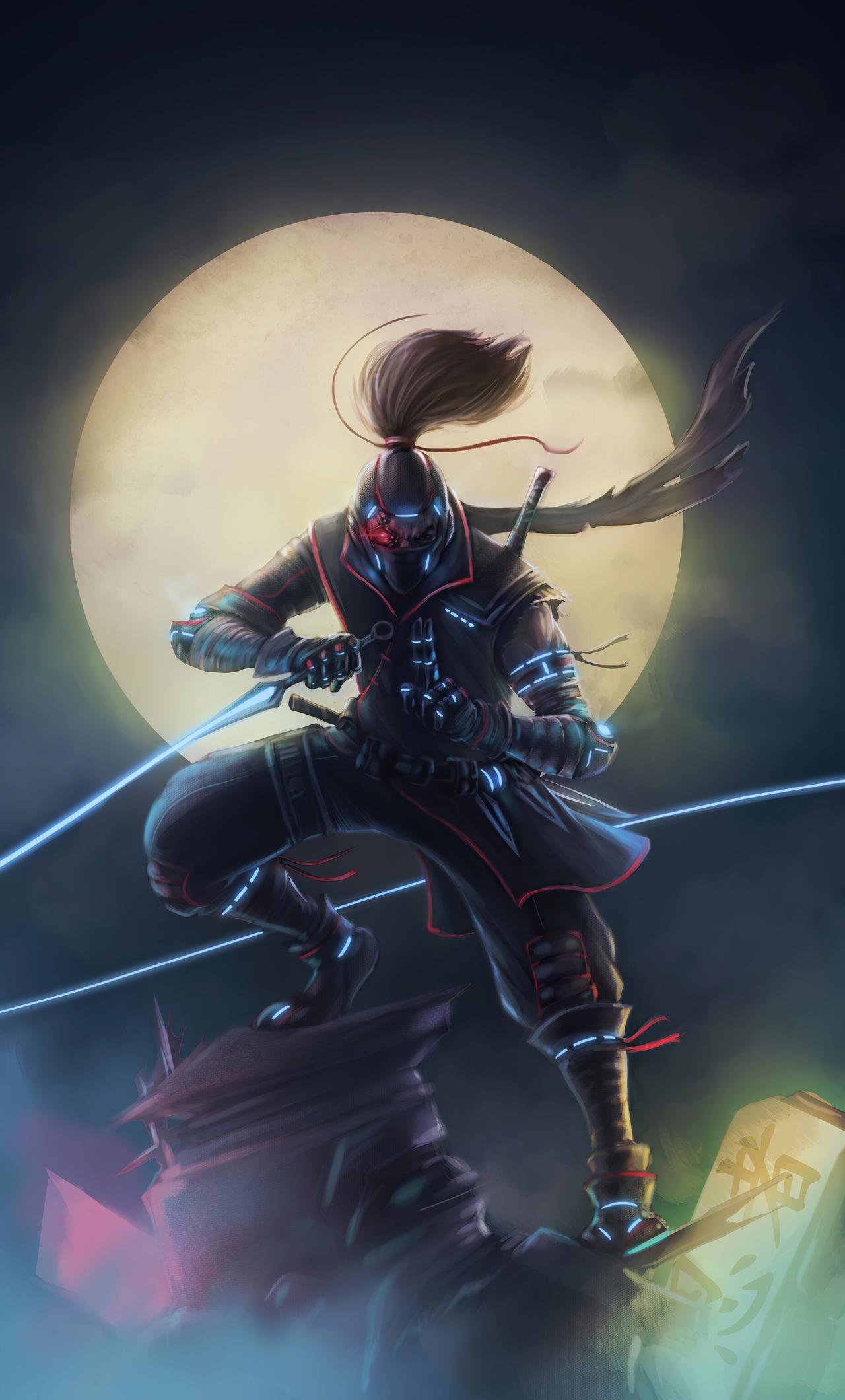 1280x2120 Cyberpunk Ninja Super Move 4k iPhone 6+ HD 4k ...