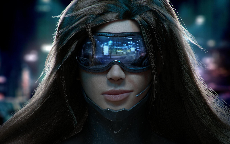 2880x1800 Cyberpunk Scifi Girl Macbook Pro Retina HD 4k ...