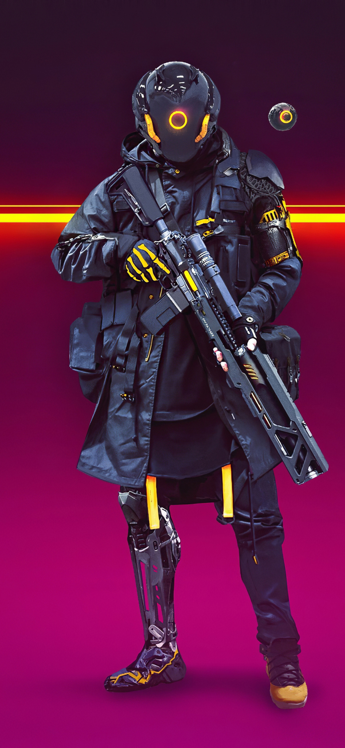 1125x2436 Cyberpunk Soldier Turbo Police 4k Iphone Xs Iphone 10 Iphone X Hd 4k Wallpapers Images Backgrounds Photos And Pictures