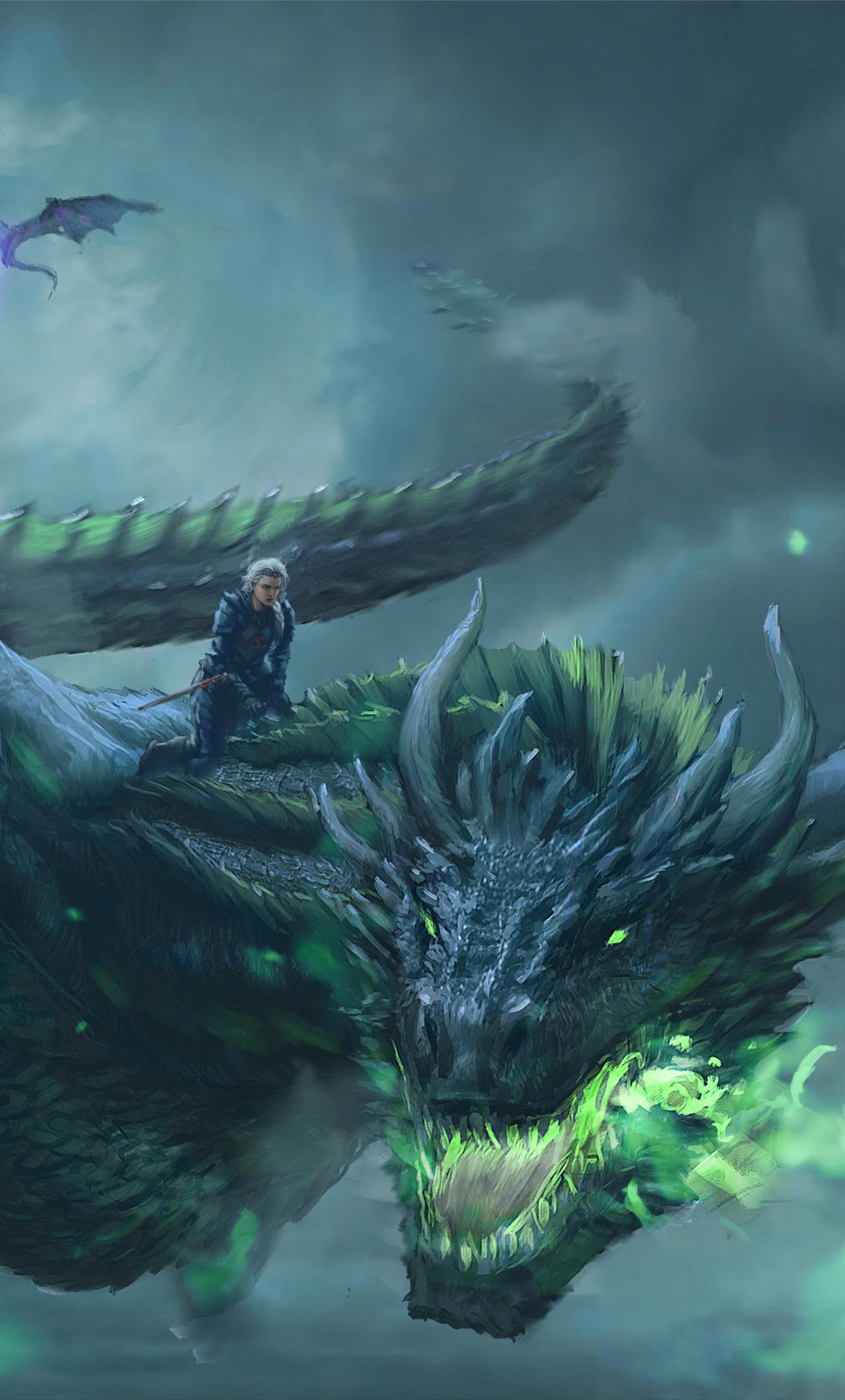 1280x2120 Daenerys Targaryen Dragon Digital Art 4k Iphone 6