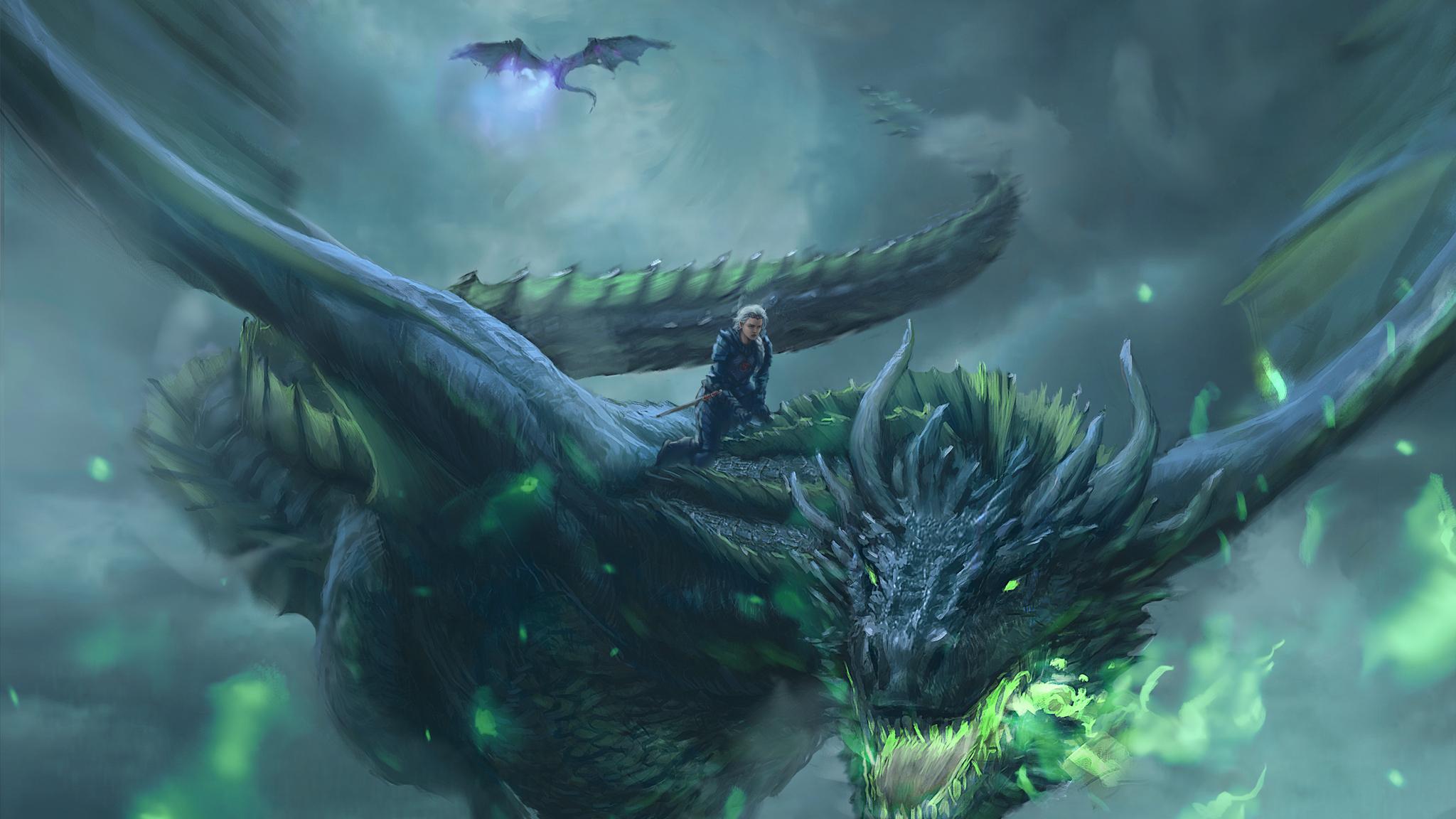 4k Game Of Thrones Wallpaper: 2048x1152 Daenerys Targaryen Dragon Digital Art 4k