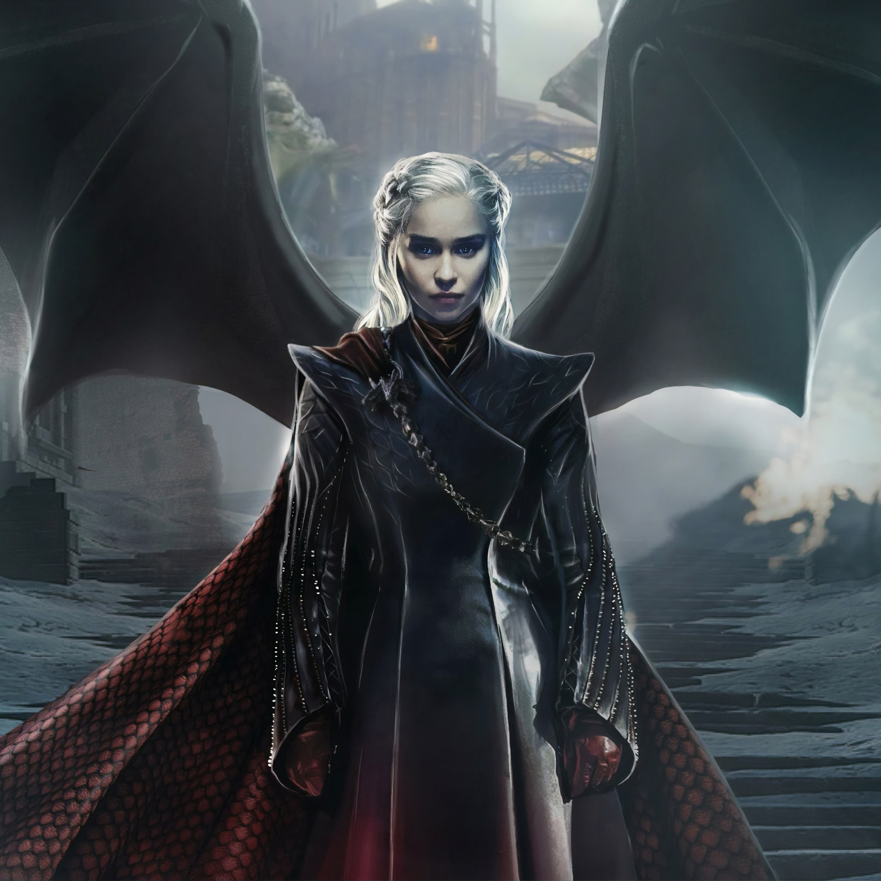 2932x2932 Daenerys Targaryen Game Of Thrones 4k Ipad Pro