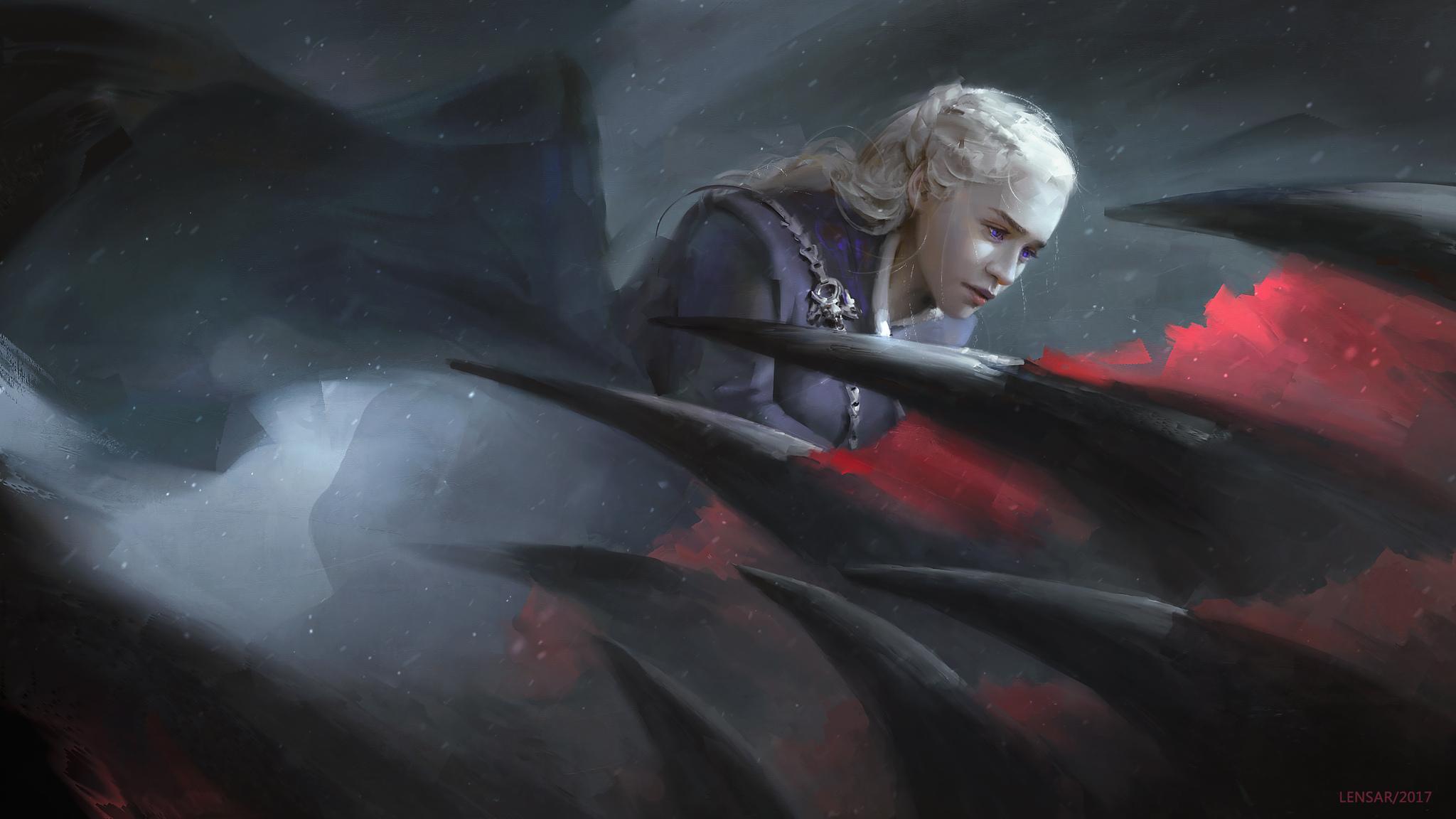 2048x1152 Daenerys Targaryen Game Of Thrones Dragon