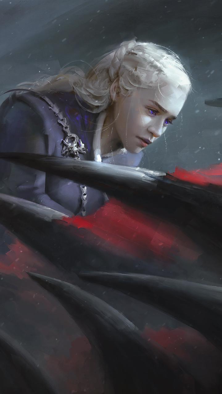 720x1280 Daenerys Targaryen Game Of Thrones Dragon Artwork Moto Gx