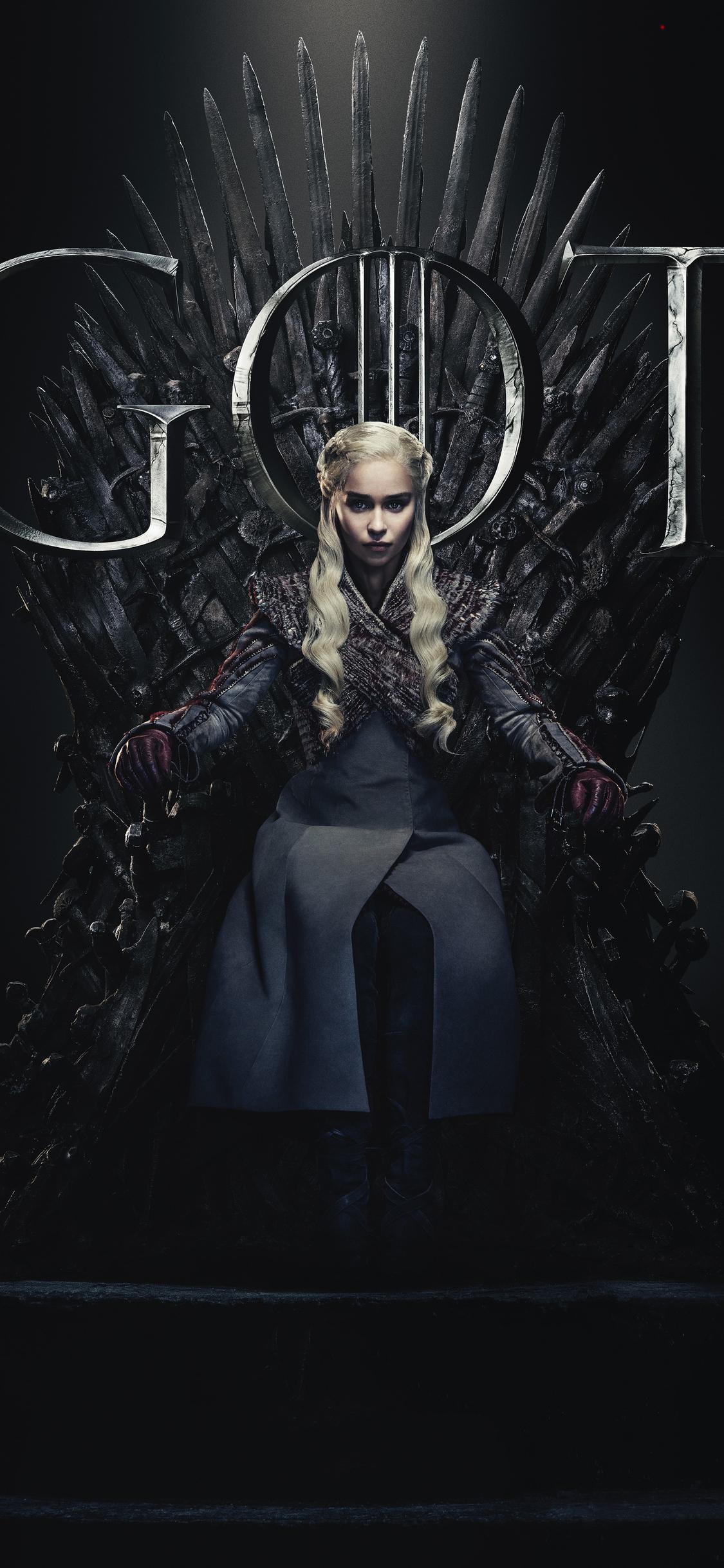 1125x2436 Daenerys Targaryen Game Of Thrones Season 8 ...