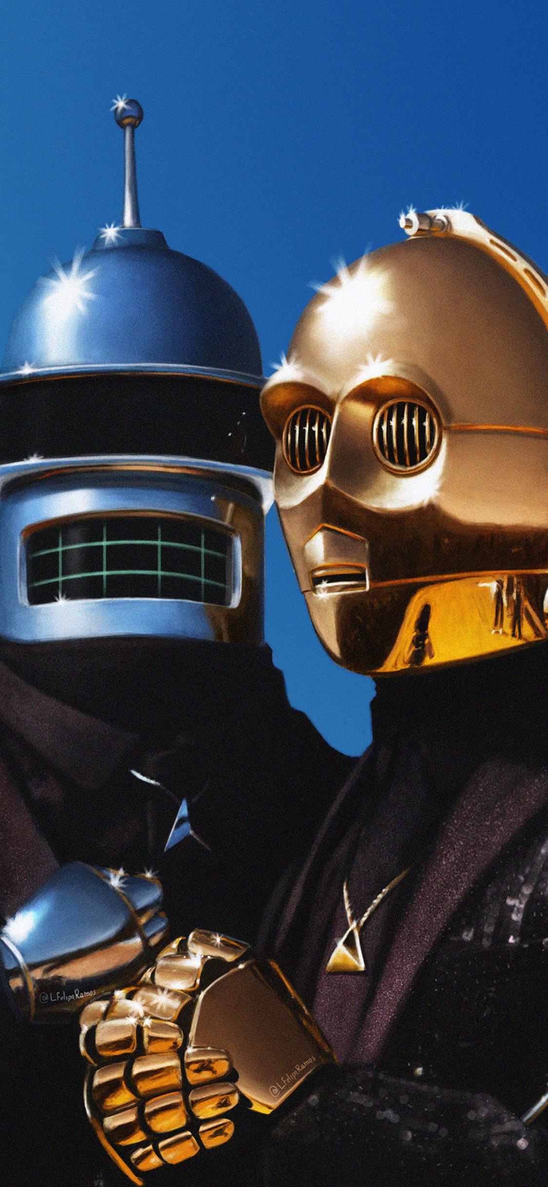 1125x2436 Daft Punk And C3PO Iphone XS,Iphone 10,Iphone X ...