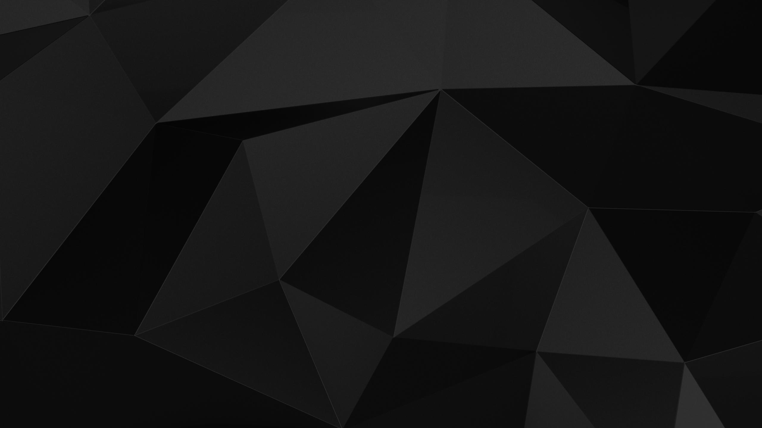 2560x1440 Dark Abstract Black Minimal 4k 1440P Resolution ...