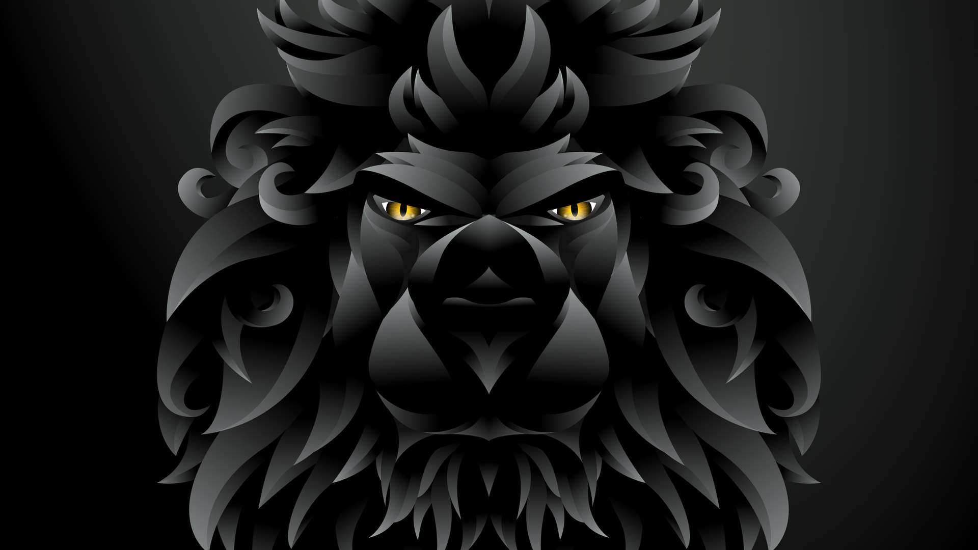1920x1080 Dark Black Lion Illustration Laptop Full Hd 1080p Hd 4k Wallpapers Images Backgrounds Photos And Pictures