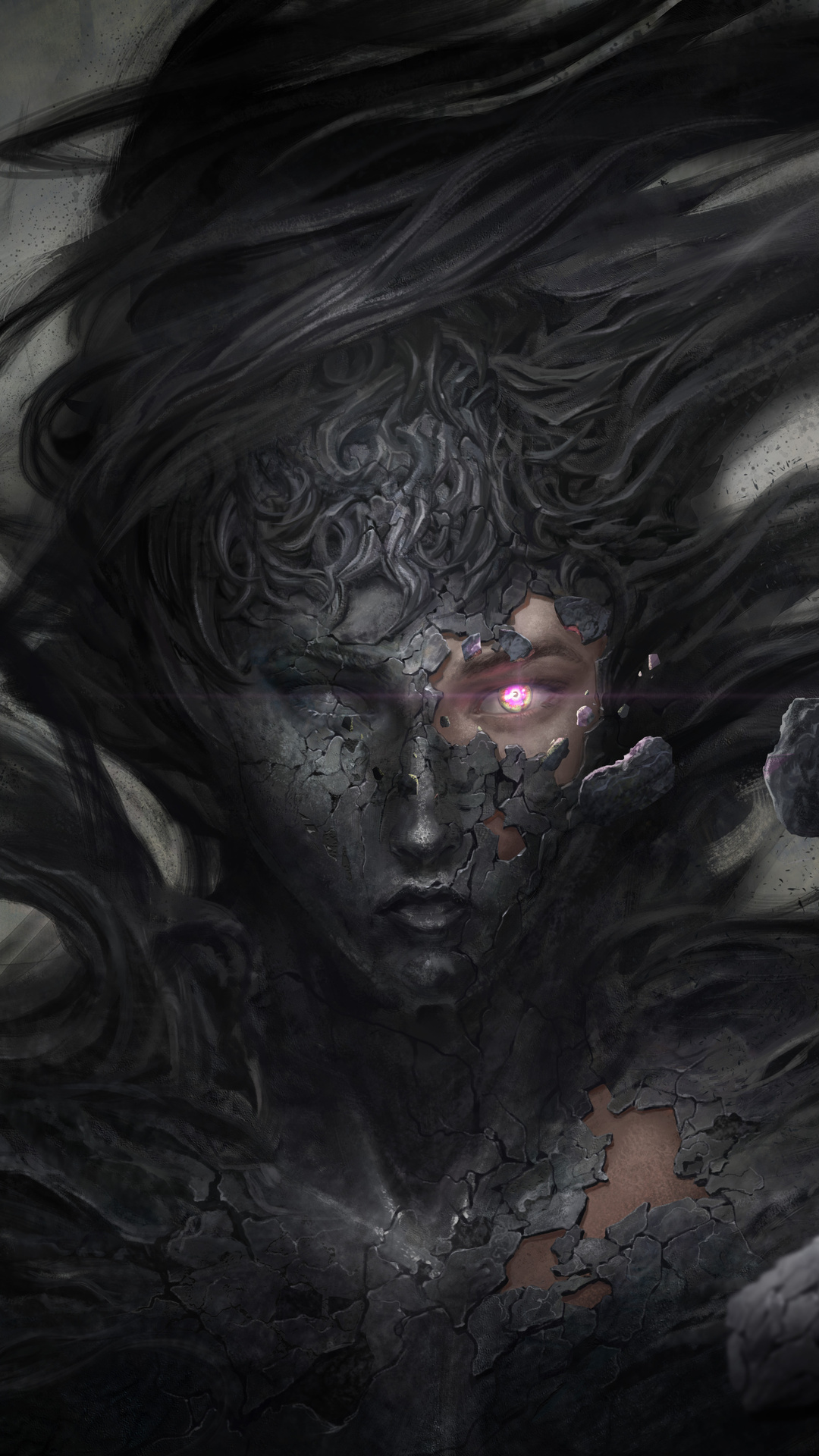 1080x1920 dark demon fantasy witch 8k iphone 7 6s 6 plus - Demon wallpaper 4k ...