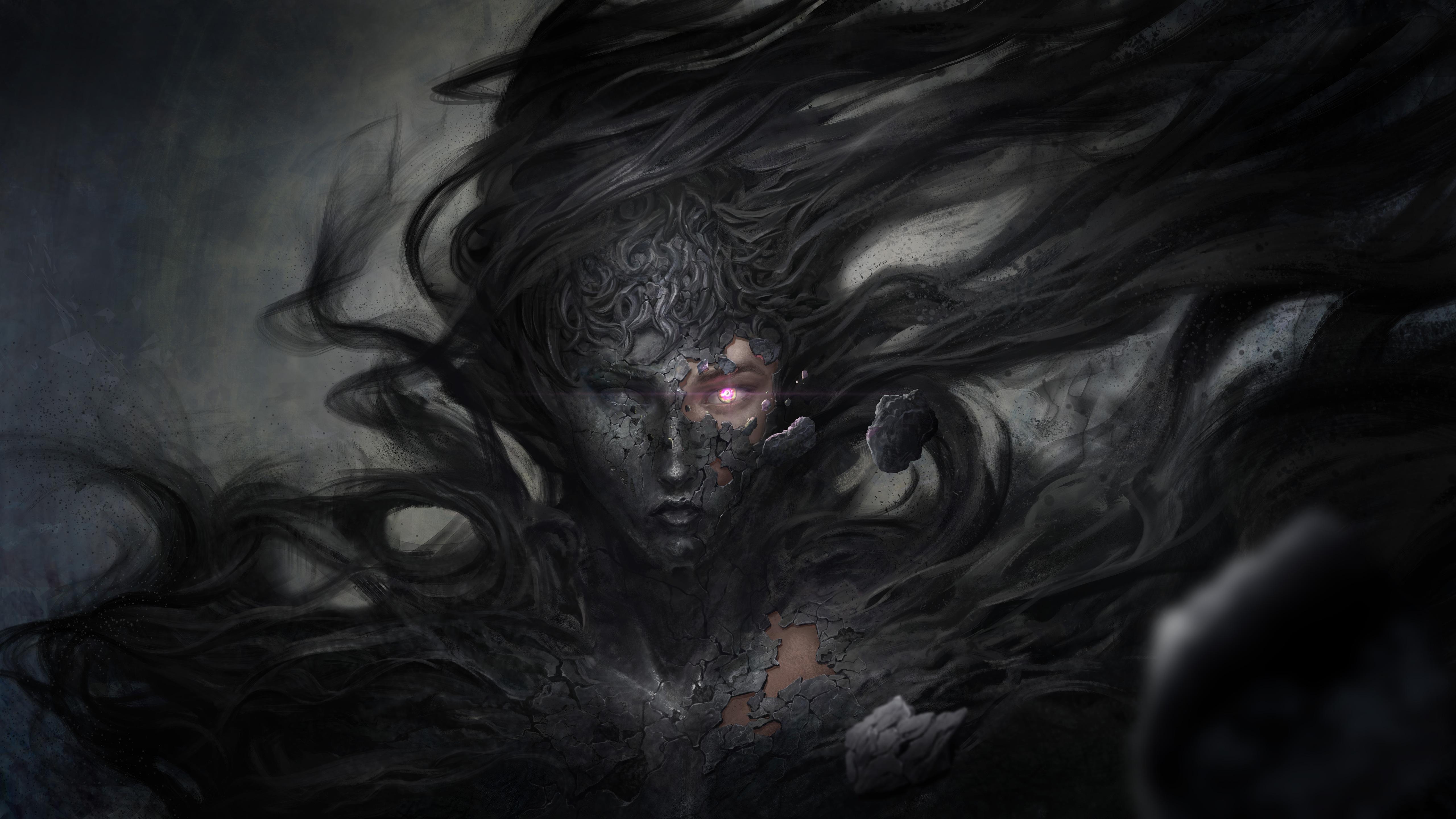 5120x2880 Dark Demon Fantasy Witch 8k 5k HD 4k Wallpapers