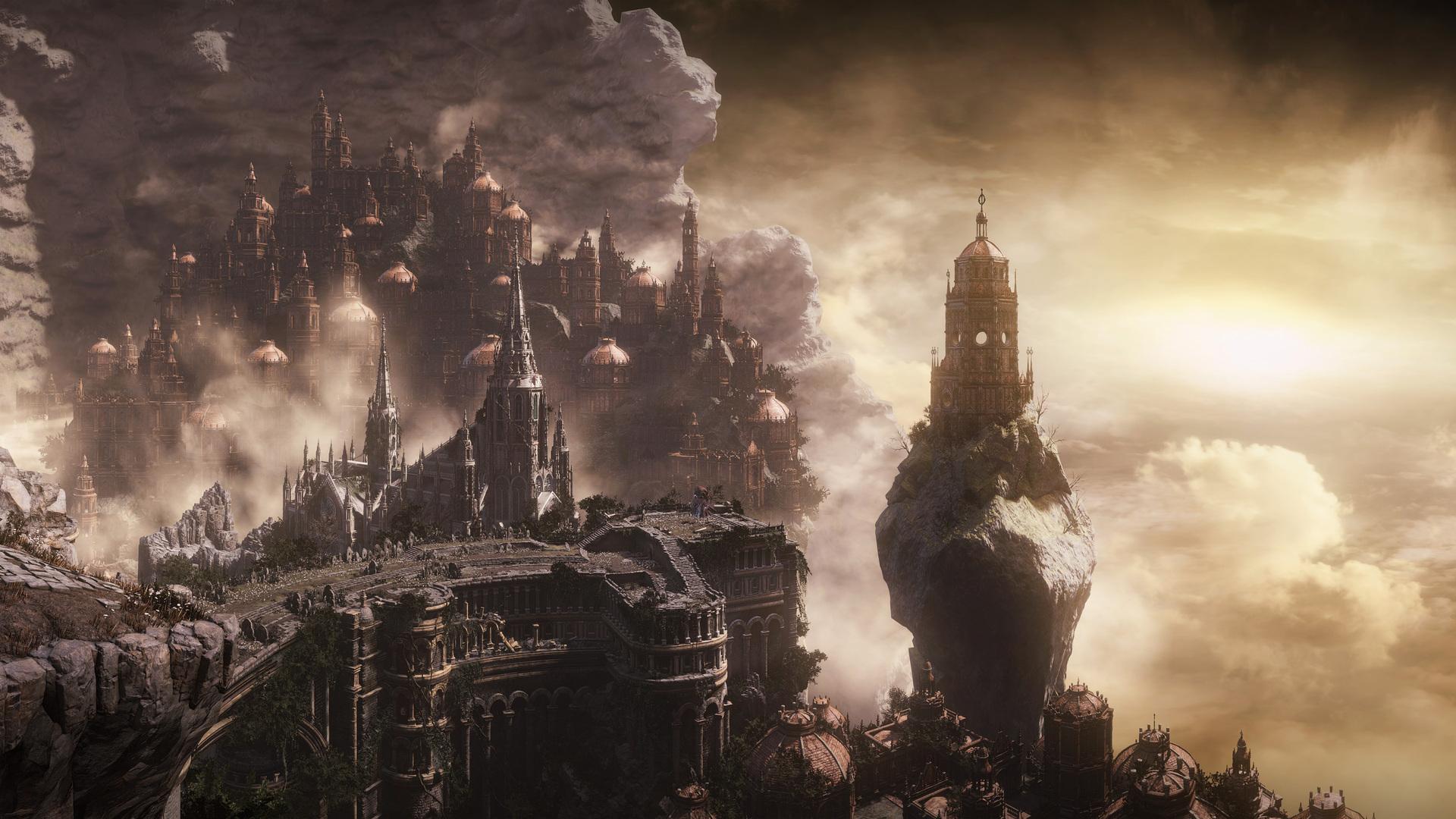 Dark Souls 3 4k Wallpaper: 1920x1080 Dark Souls 3 City Fantasy Laptop Full HD 1080P