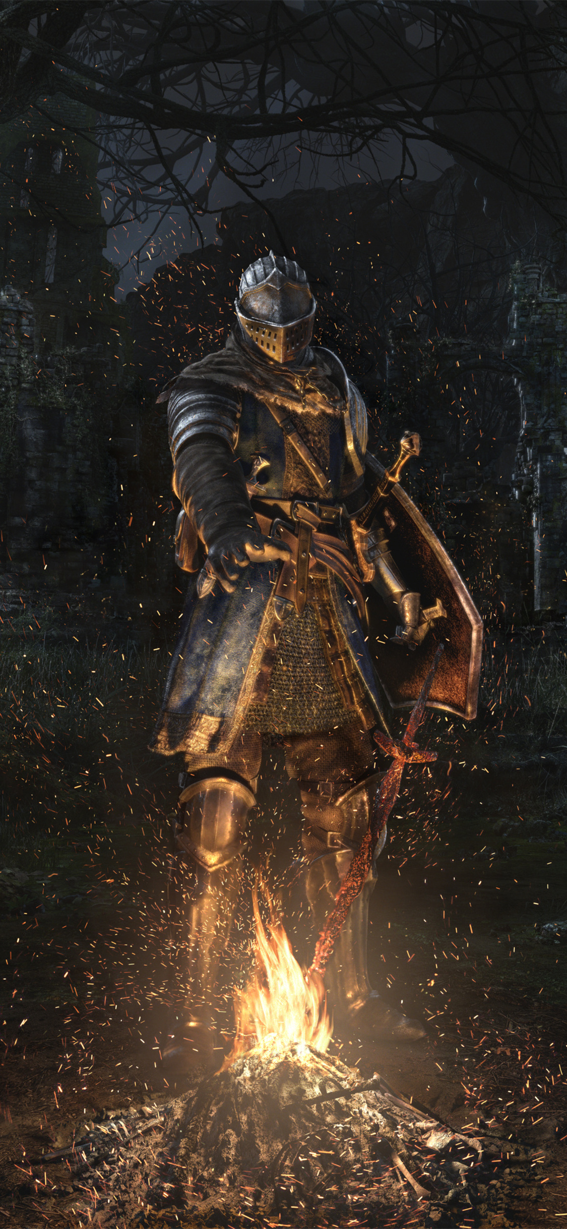 1125x2436 Dark Souls Remastered Key Art 4k Iphone Xs Iphone 10