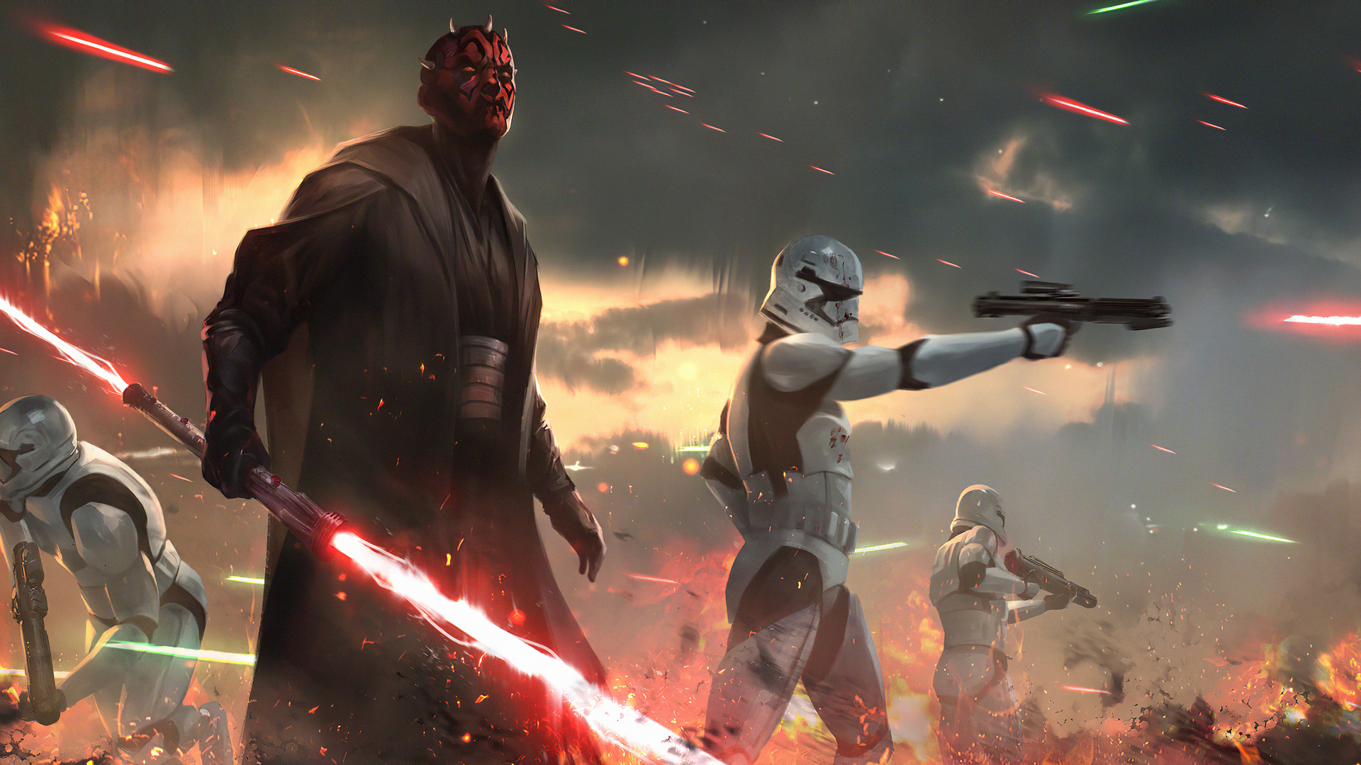 1920x1080 Darth Maul Star Wars Fanartwork Laptop Full Hd 1080p Hd 4k Wallpapers Images Backgrounds Photos And Pictures