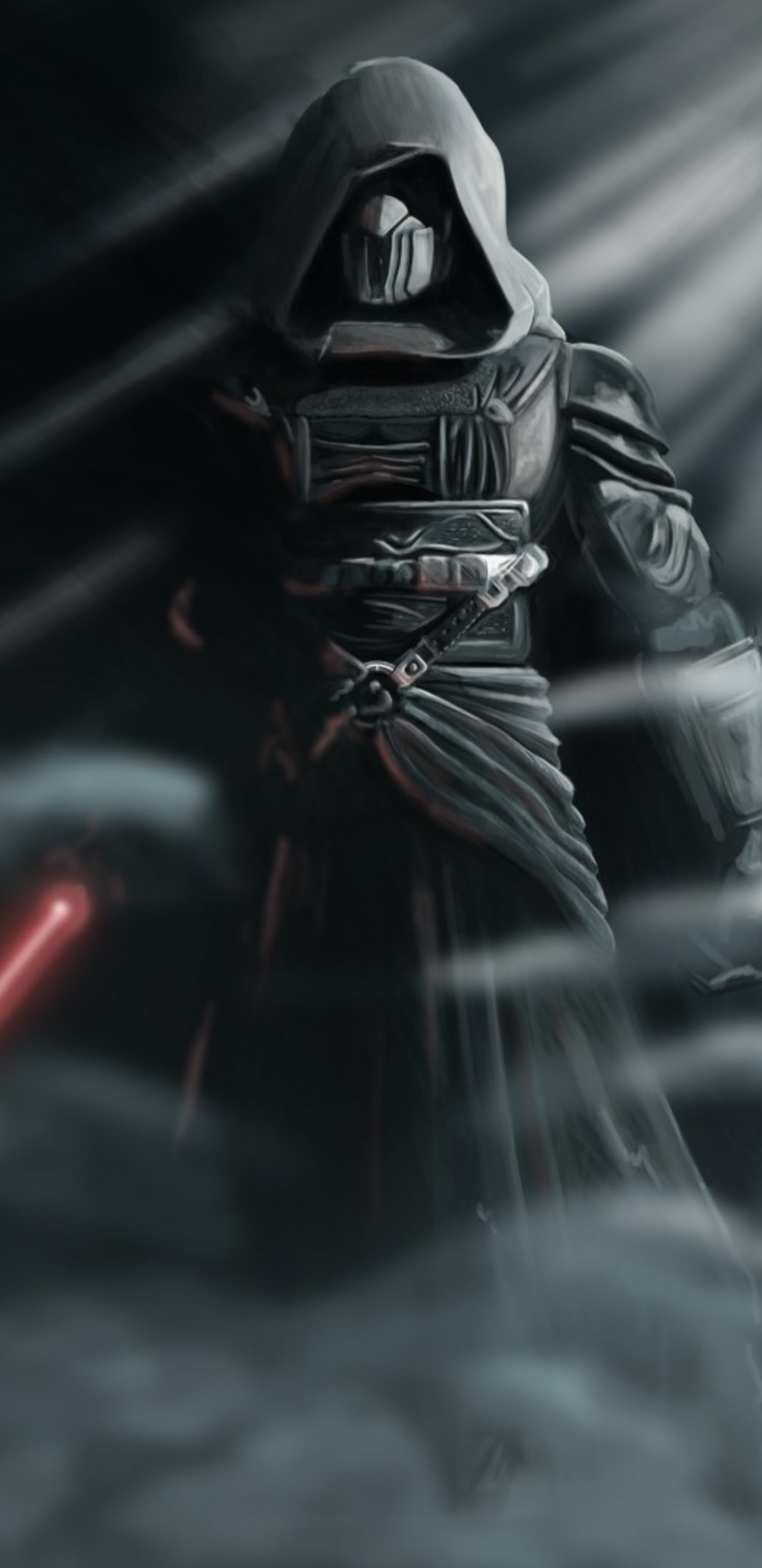 darth revan star wars with lightsaber o0