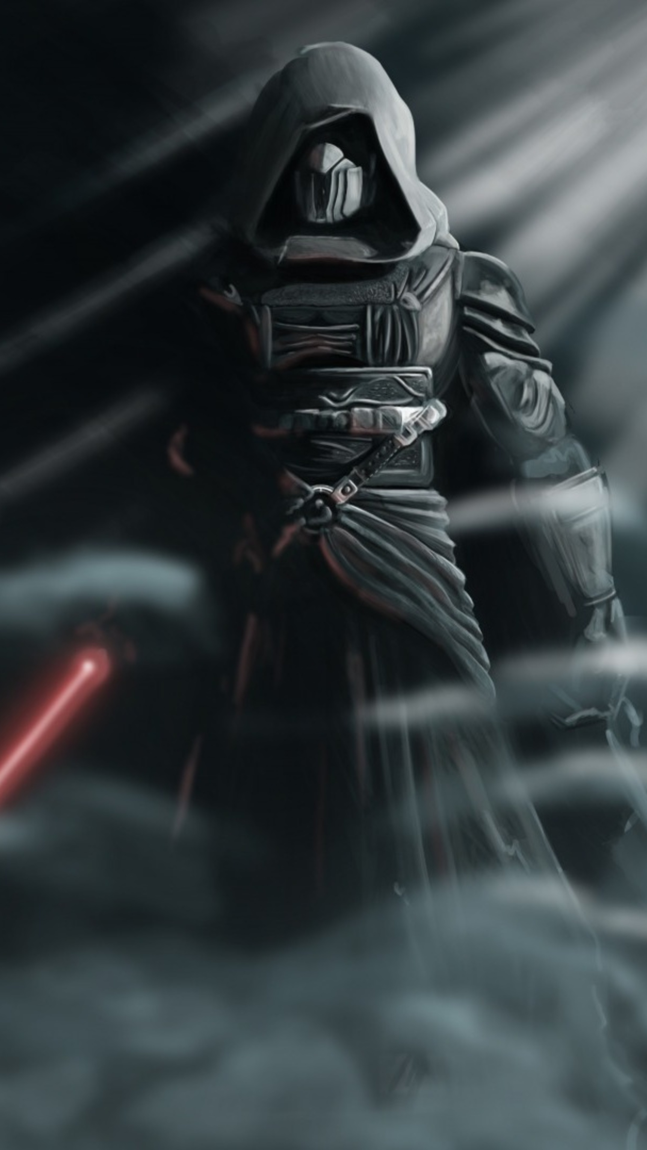 2160x3840 Darth Revan Star Wars With Lightsaber Sony Xperia