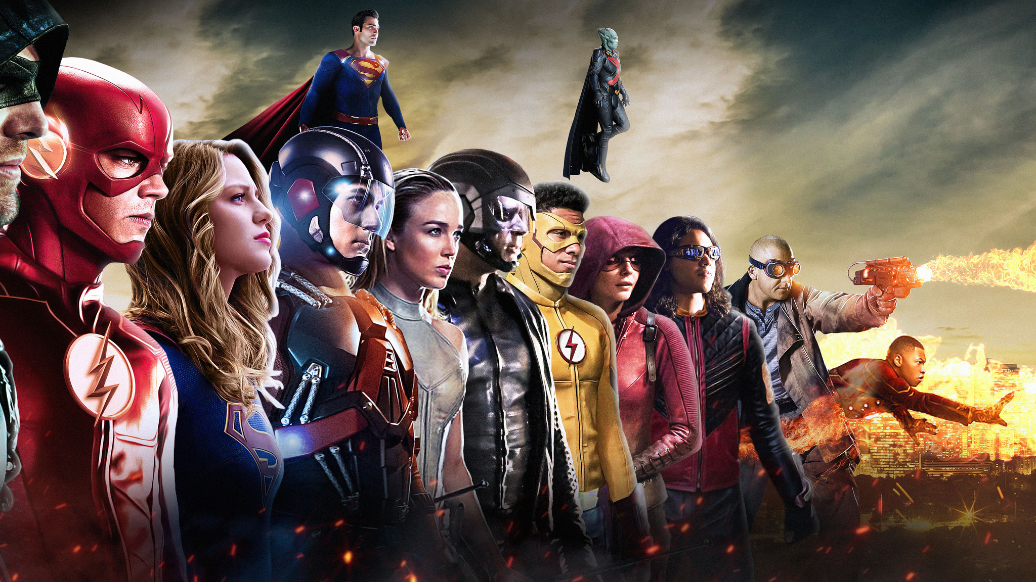 2048x1152 dc cw all superheroes 2048x1152 resolution hd 4k - Tv series wallpaper 4k ...