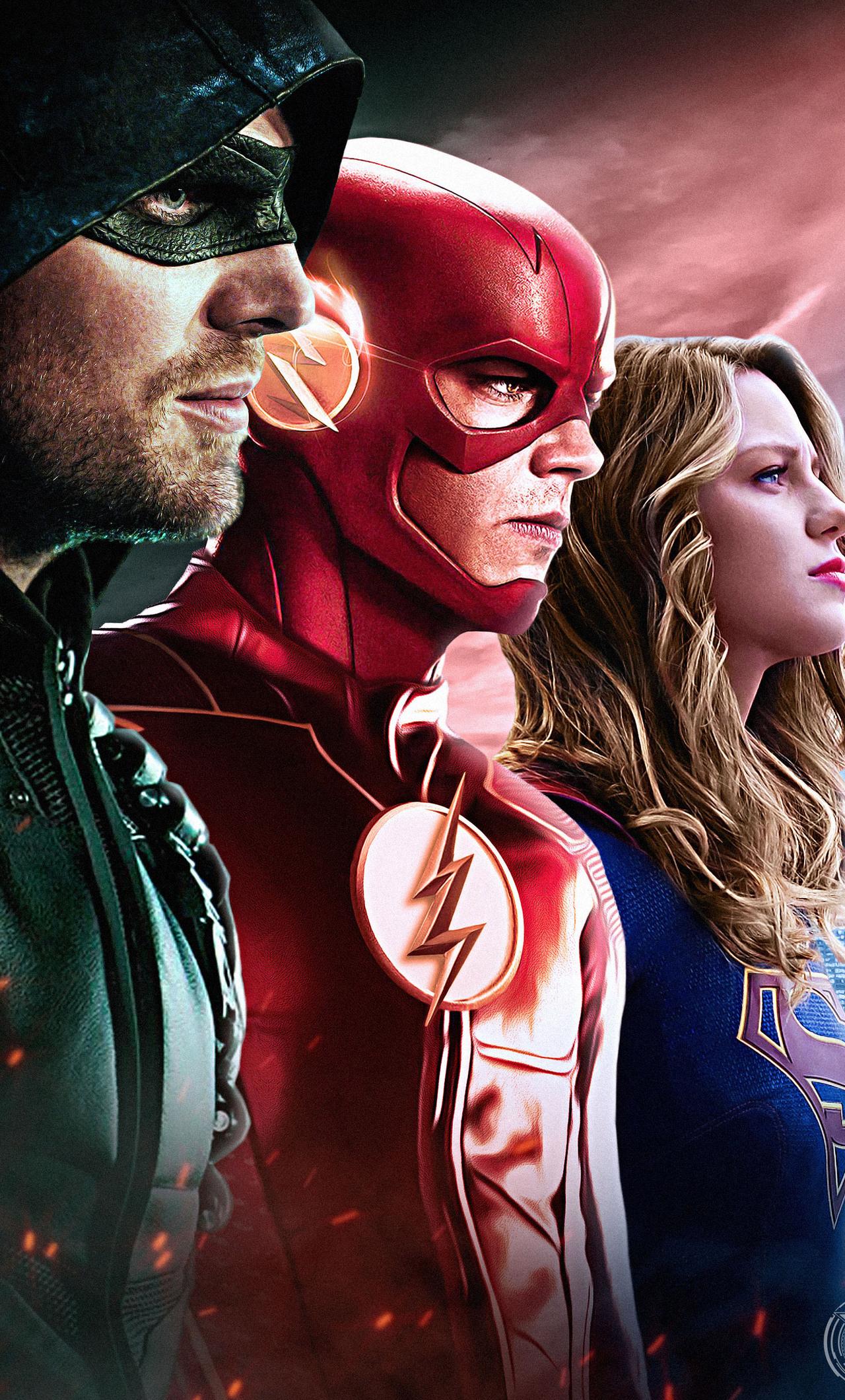 1280x2120 Dc Tv Arrow Flash Supergirl Iphone 6 Hd 4k Wallpapers