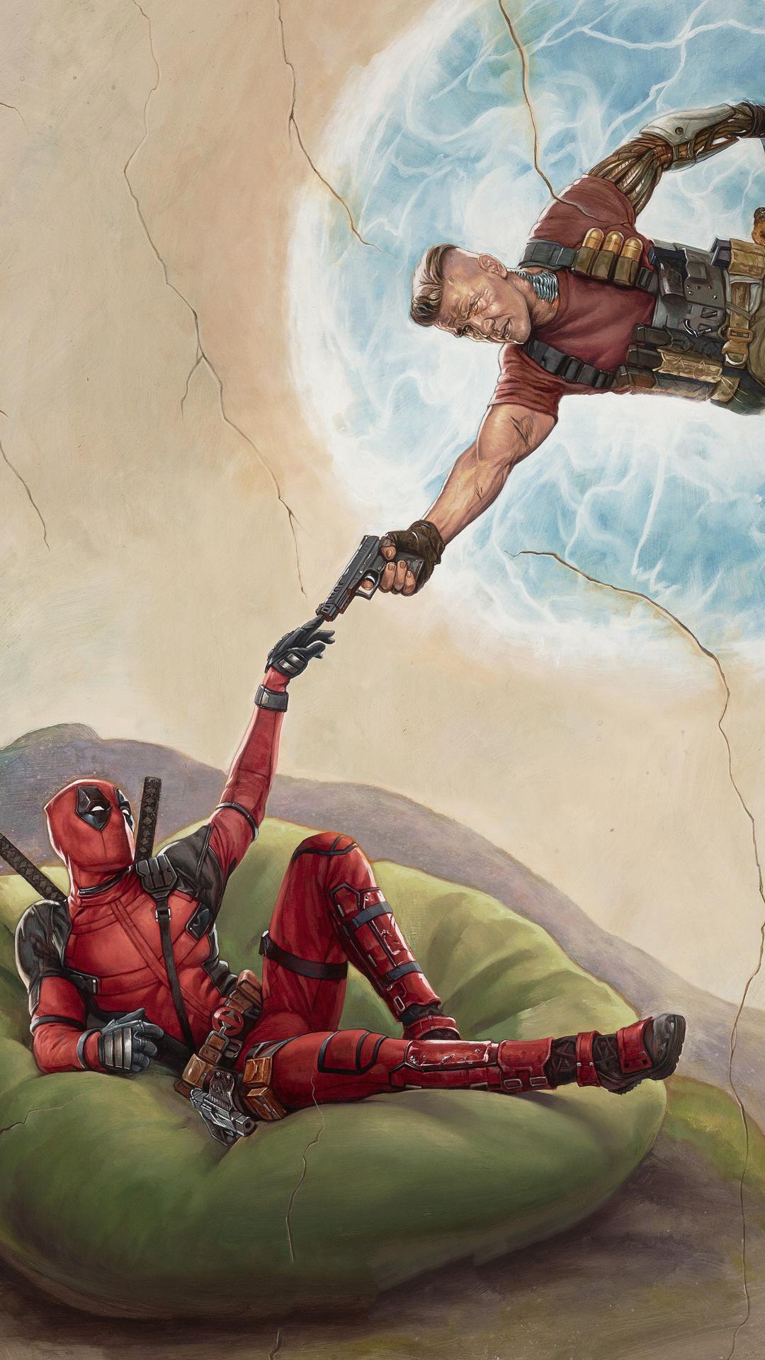1080x1920 Deadpool 2 2018 Movie Poster Iphone 7 6s 6 Plus Pixel Xl