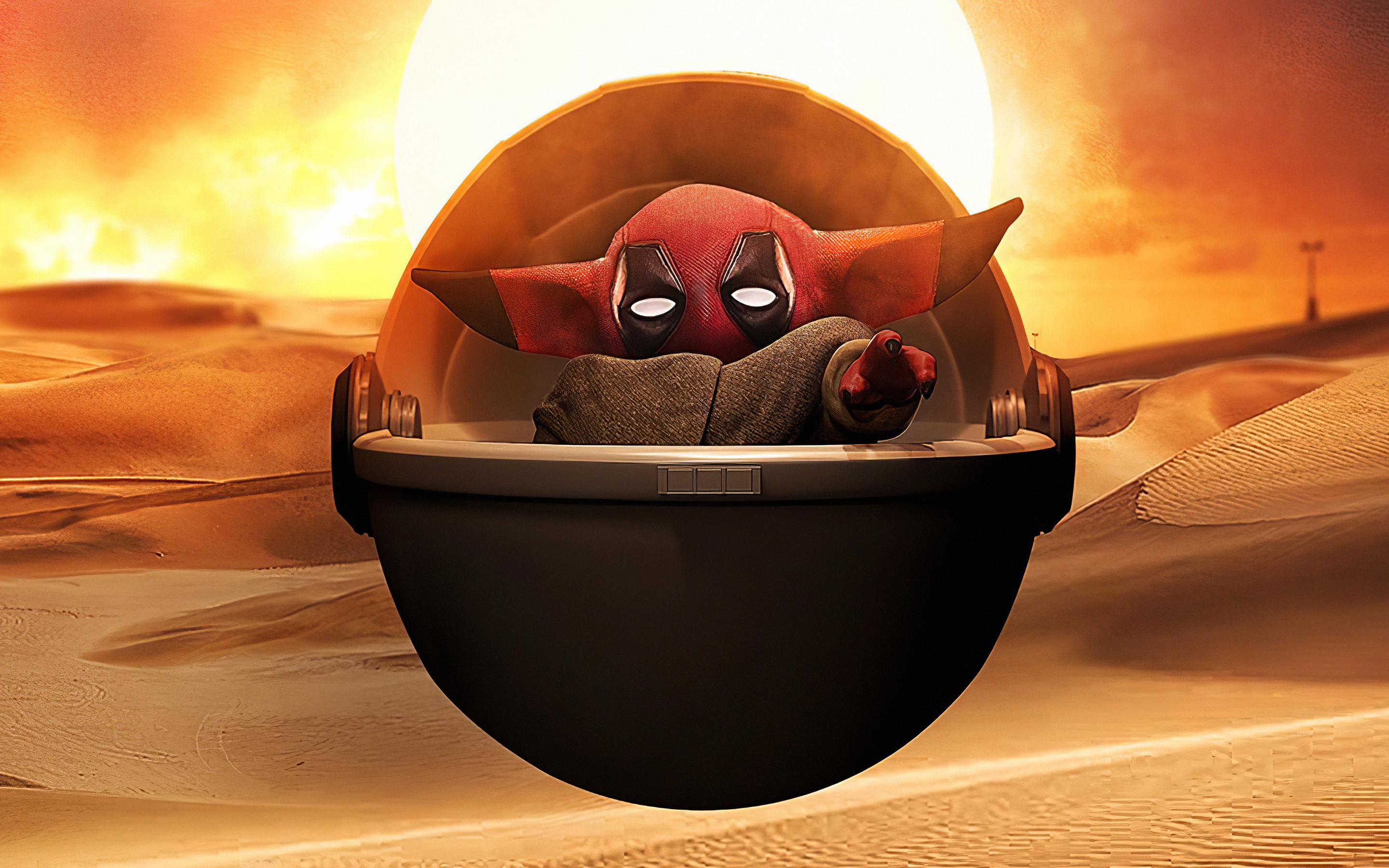 2880x1800 Deadpool Baby Yoda Macbook Pro Retina Hd 4k Wallpapers Images Backgrounds Photos And Pictures