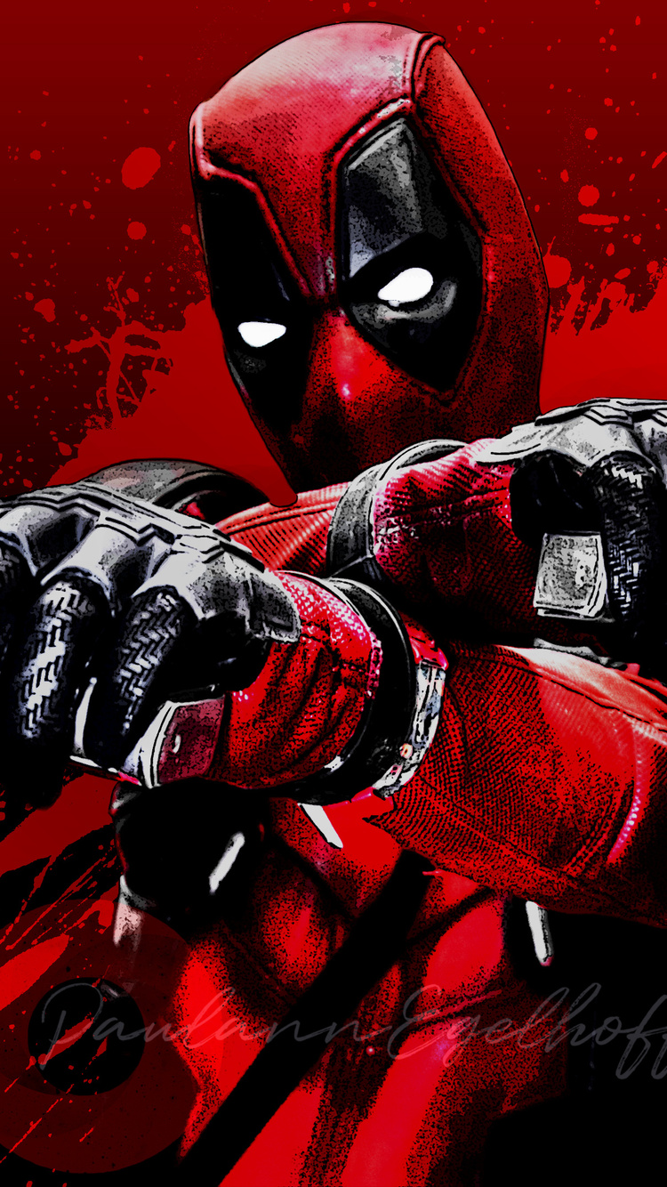 750x1334 Deadpool Blood Guns Glitch Art 4k Iphone 6 Iphone 6s Iphone 7 Hd 4k Wallpapers Images Backgrounds Photos And Pictures