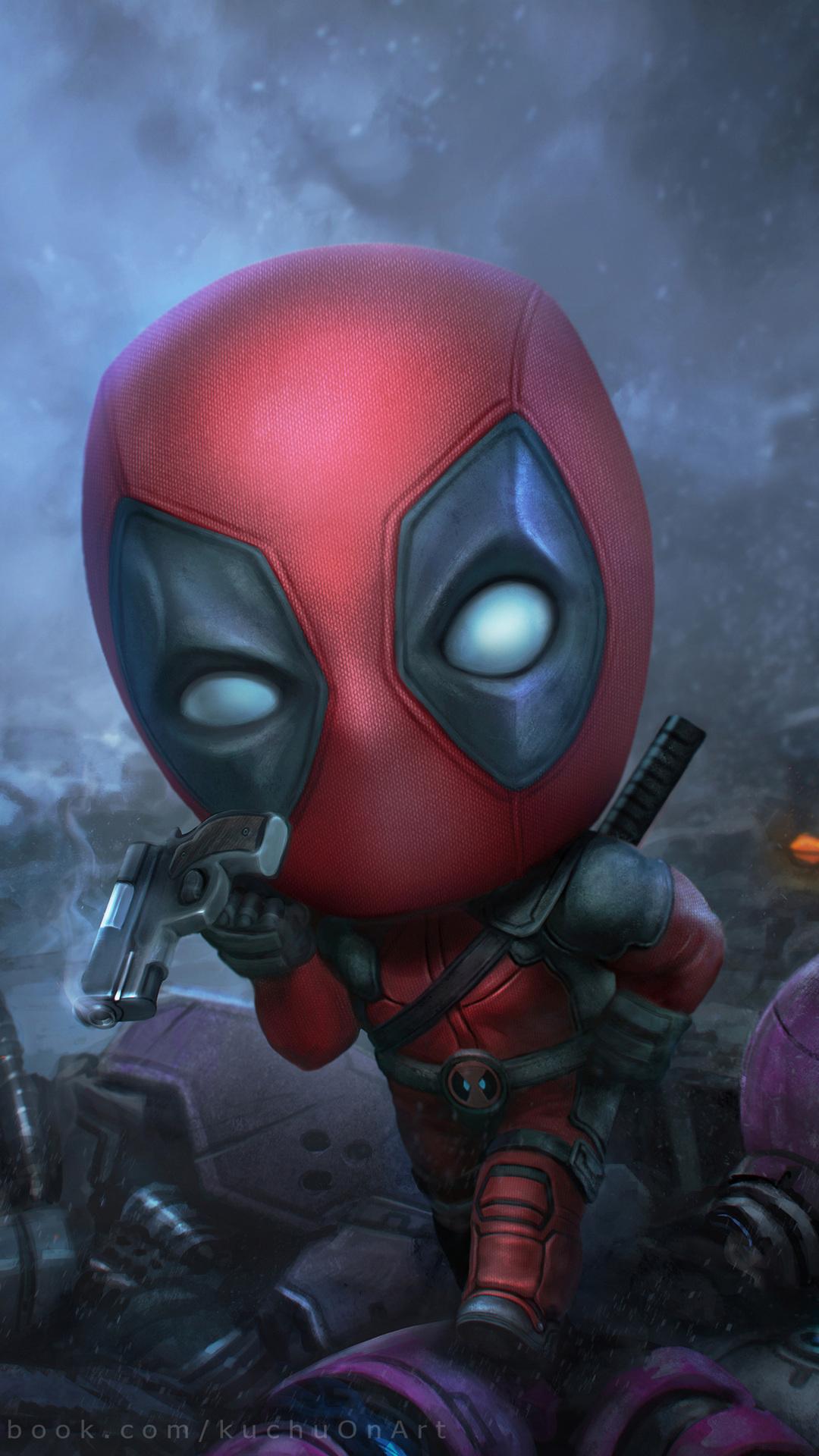 Deadpool Fan Art (Iphone 7,6s,6 Plus, Pixel xl ,One Plus 3,3t,5)