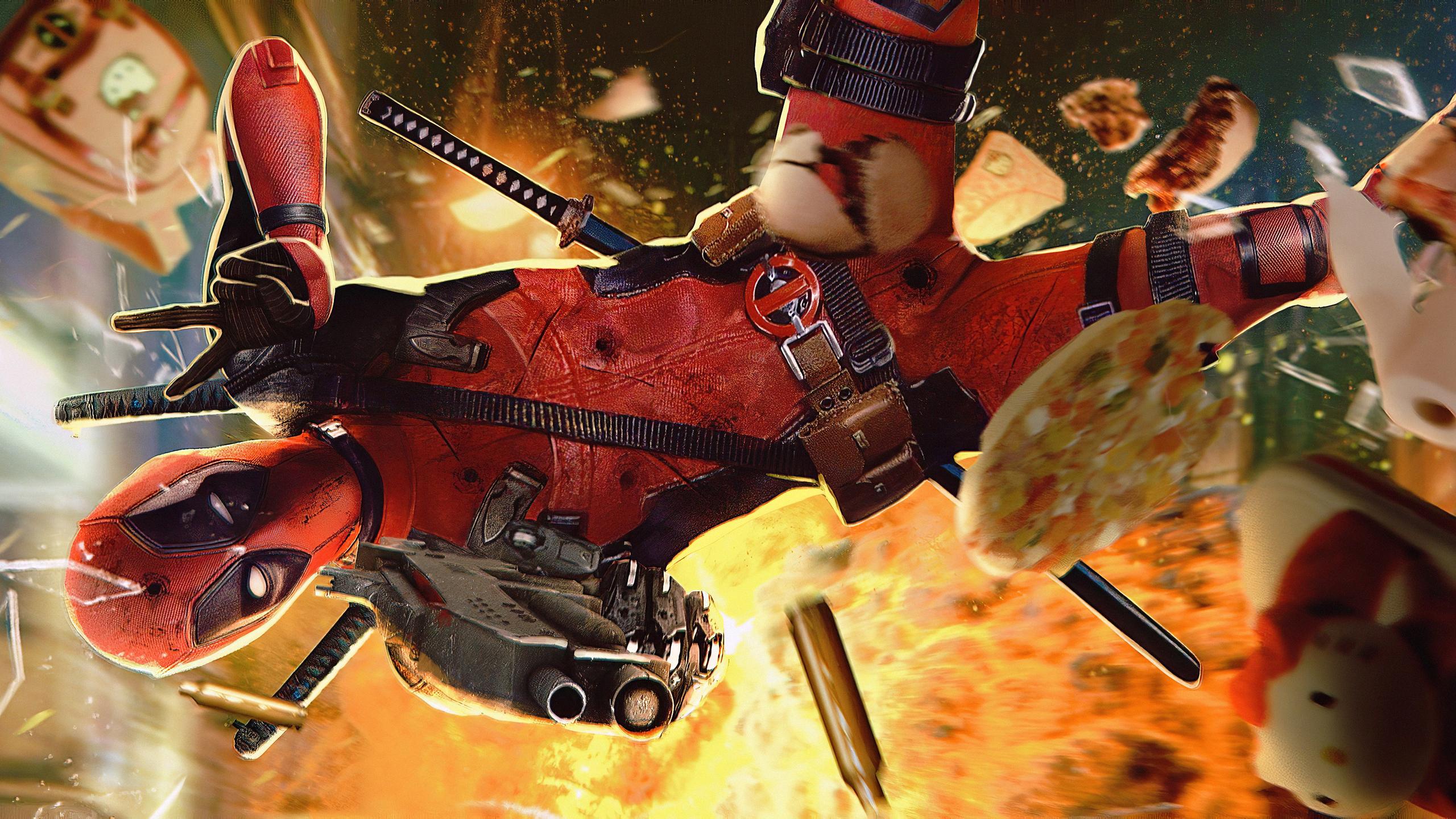 2560x1440 Deadpool Fire 1440p Resolution Hd 4k Wallpapers