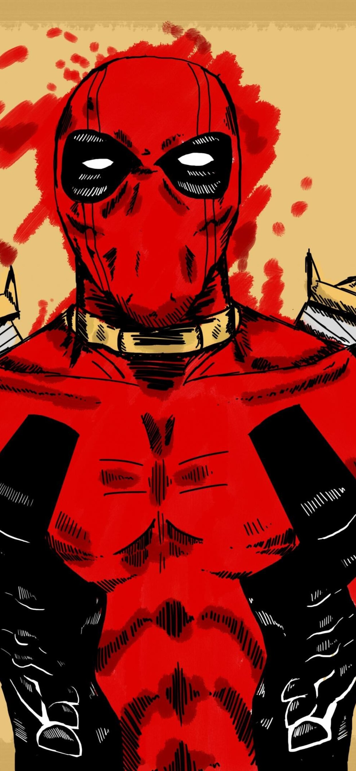 1242x2688 Deadpool Marvel Comic Art Iphone Xs Max Hd 4k Wallpapers