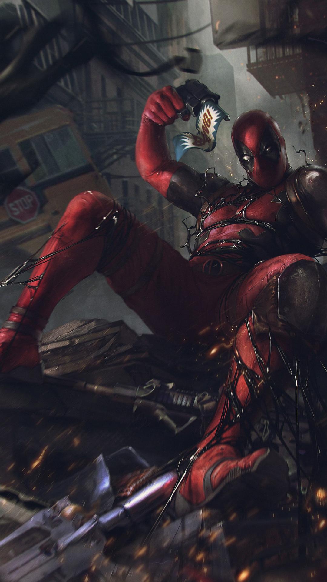 1080x1920 Deadpool Vs Venom Symbiote Iphone 7 6s 6 Plus Pixel Xl