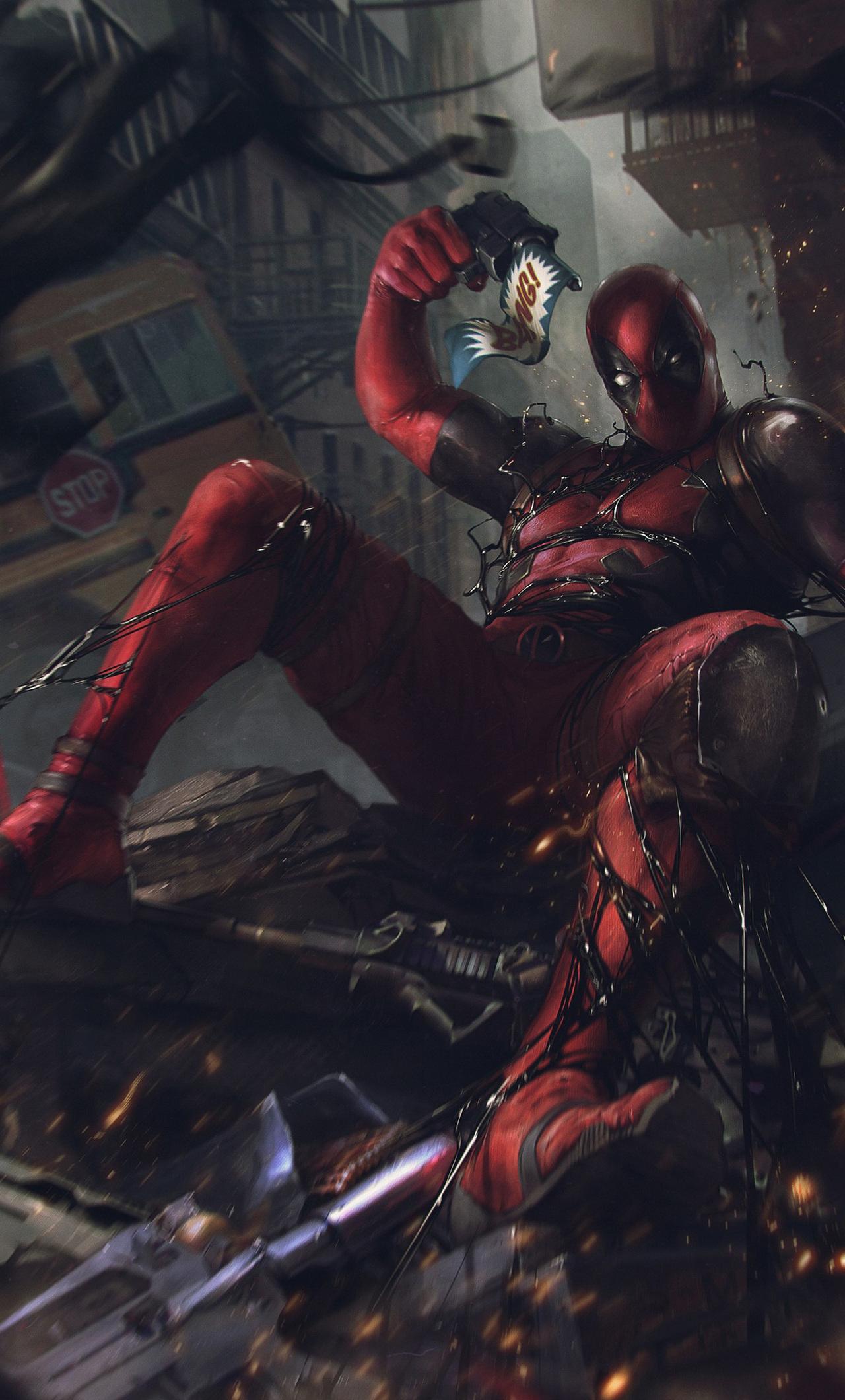 1280x2120 Deadpool Vs Venom Symbiote Iphone 6 Hd 4k Wallpapers