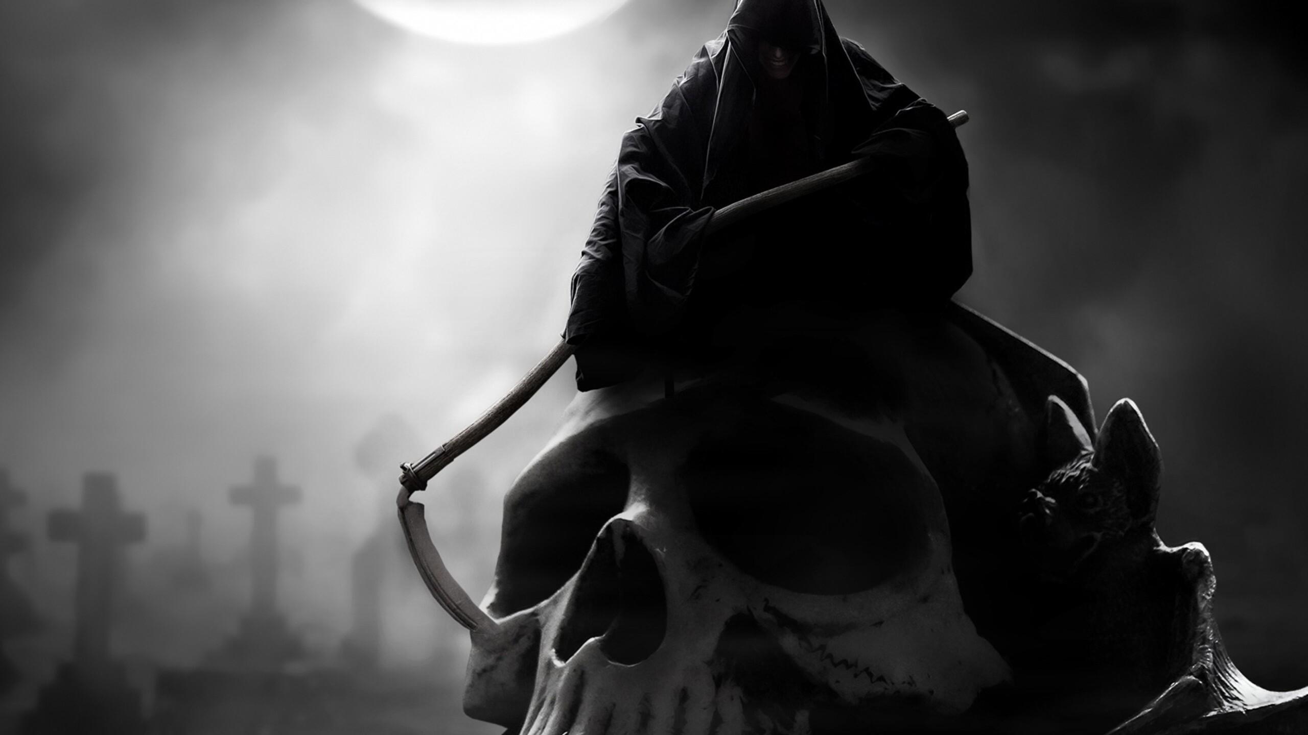 Смерть с косой из дыма  № 2320239  скачать