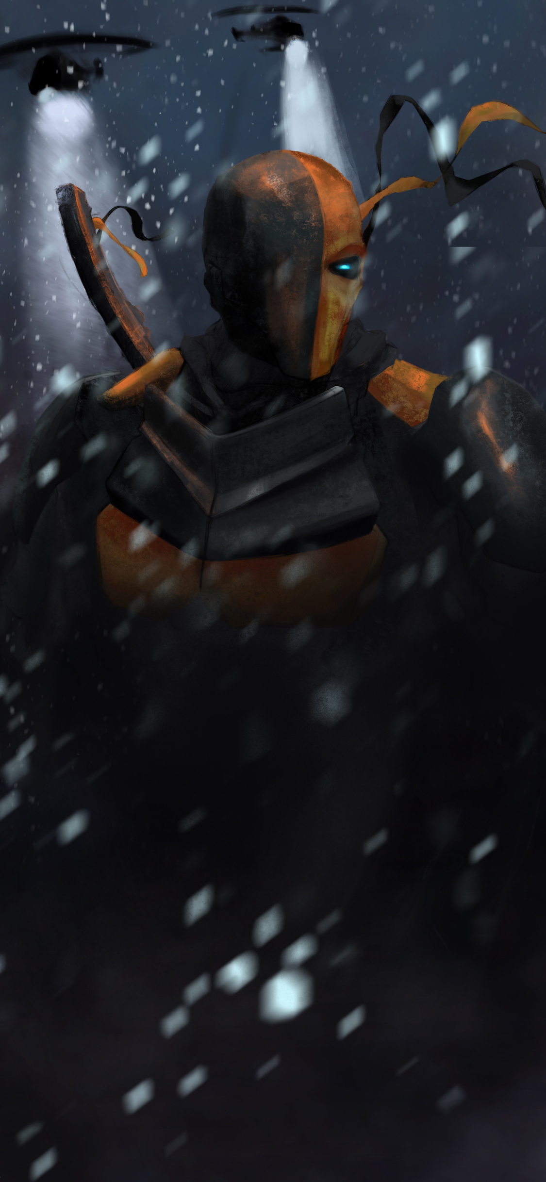 1125x2436 Deathstroke 4k Art Iphone Xs Iphone 10 Iphone X Hd 4k Wallpapers Images Backgrounds Photos And Pictures