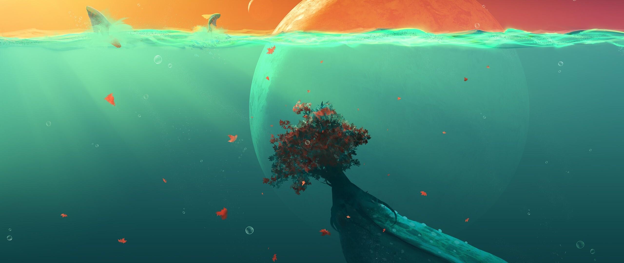 2560x1080 Deep Ocean Planet Fish 2560x1080 Resolution Hd 4k