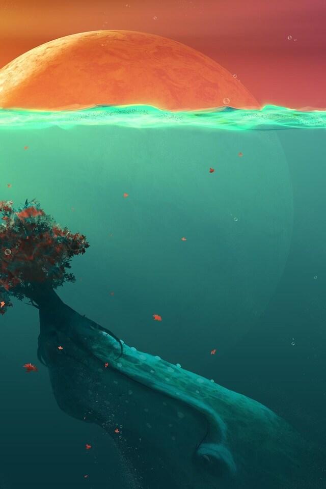 640x960 Deep Ocean Planet Fish iPhone 4, iPhone 4S HD 4k ...