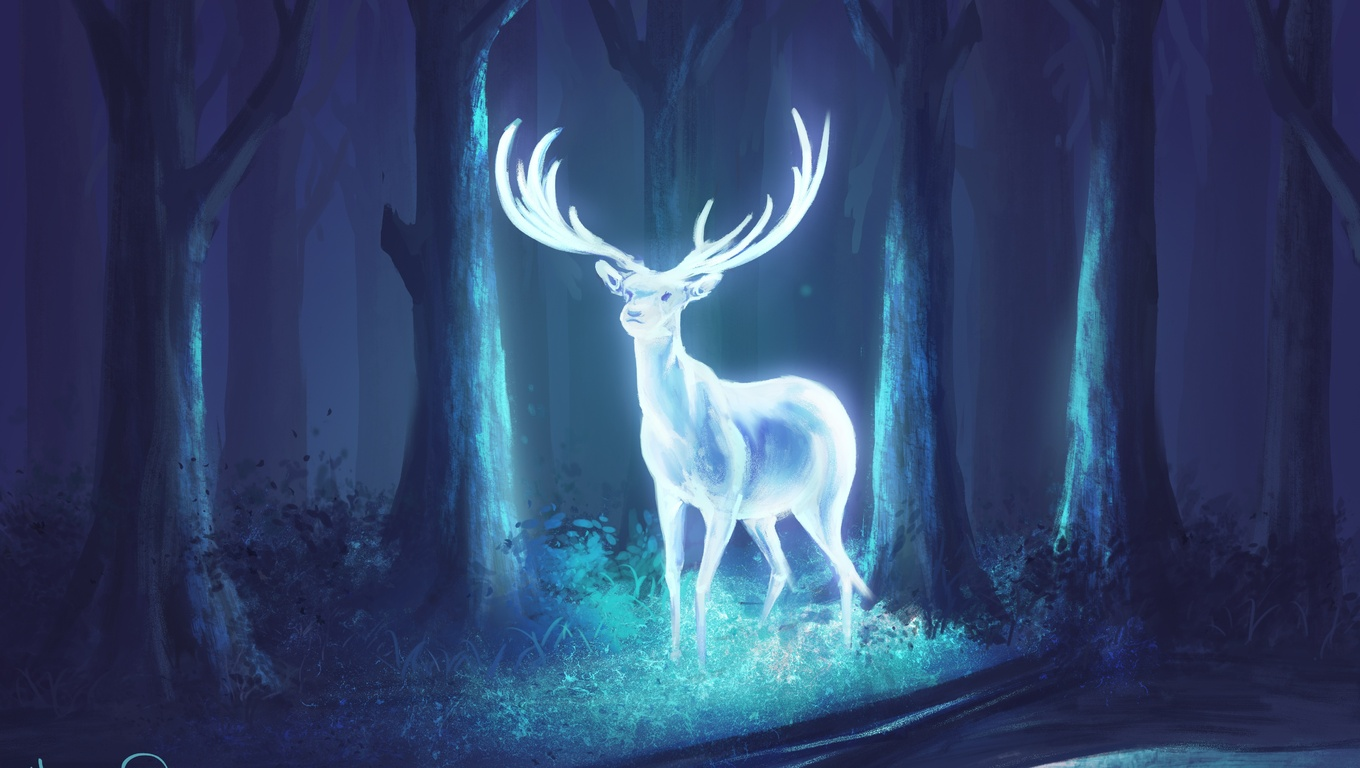 1360x768 Deer Fantasy Artwork Laptop Hd Hd 4k Wallpapers Images Backgrounds Photos And Pictures