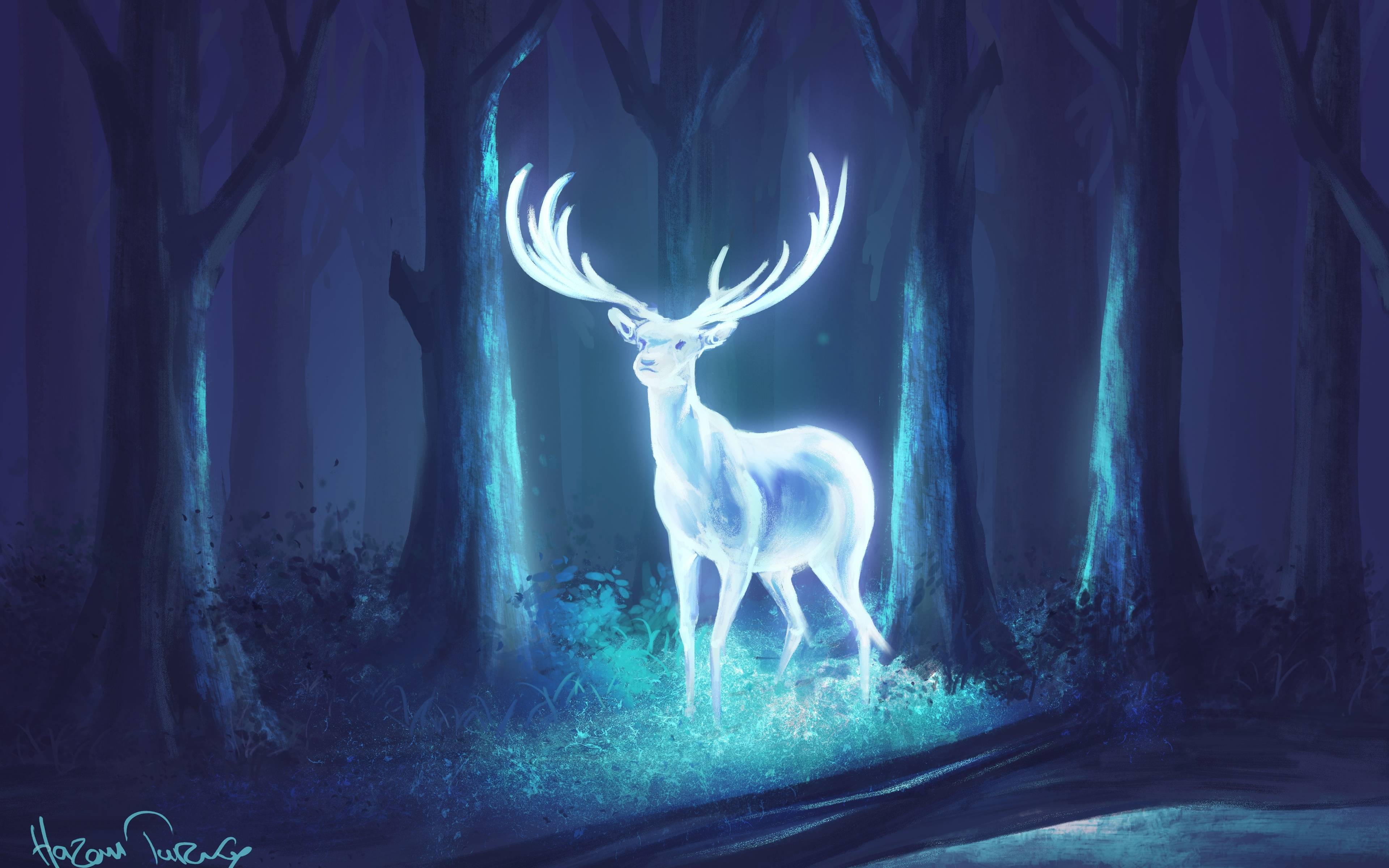 Misty Deer 4k Hd Desktop Wallpaper For 4k Ultra Hd Tv: 3840x2400 Deer Fantasy Artwork 4k HD 4k Wallpapers, Images