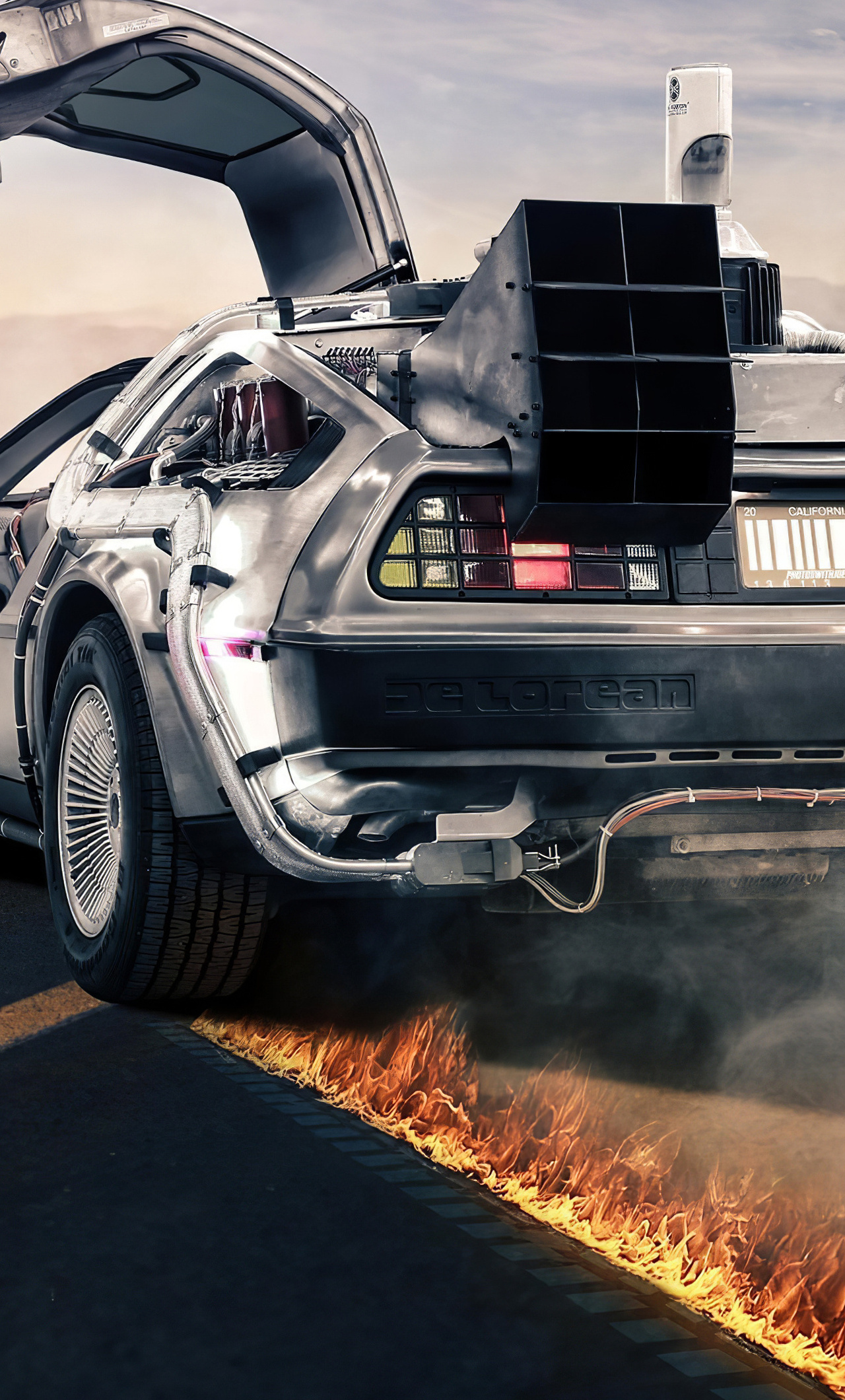 1280x2120 Delorean Back To The Future 4k Iphone 6 Hd 4k