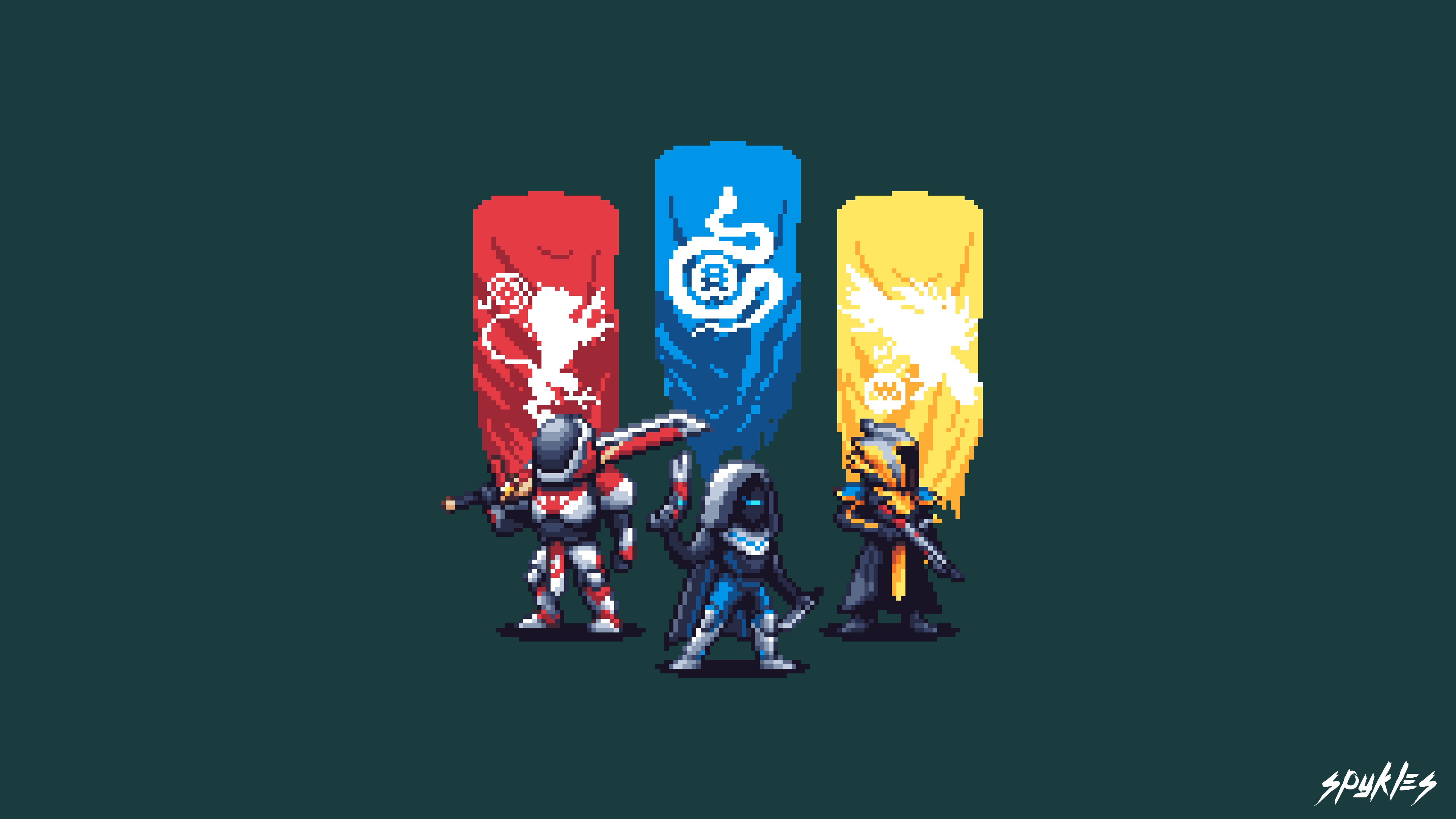 Destiny 2 Pixel Artwork 4k Pl
