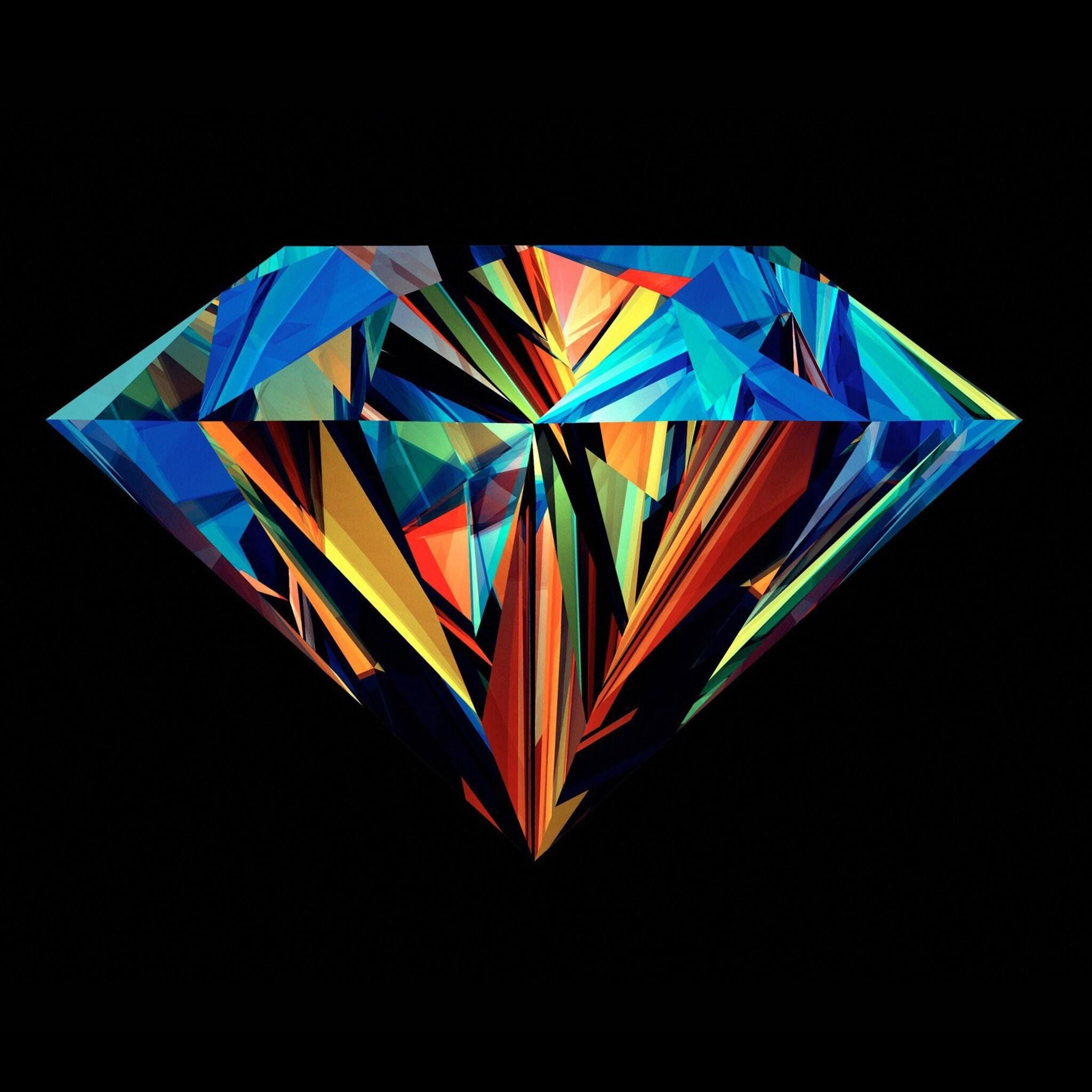 2048x2048 Diamond Abstract Ipad Air HD 4k Wallpapers