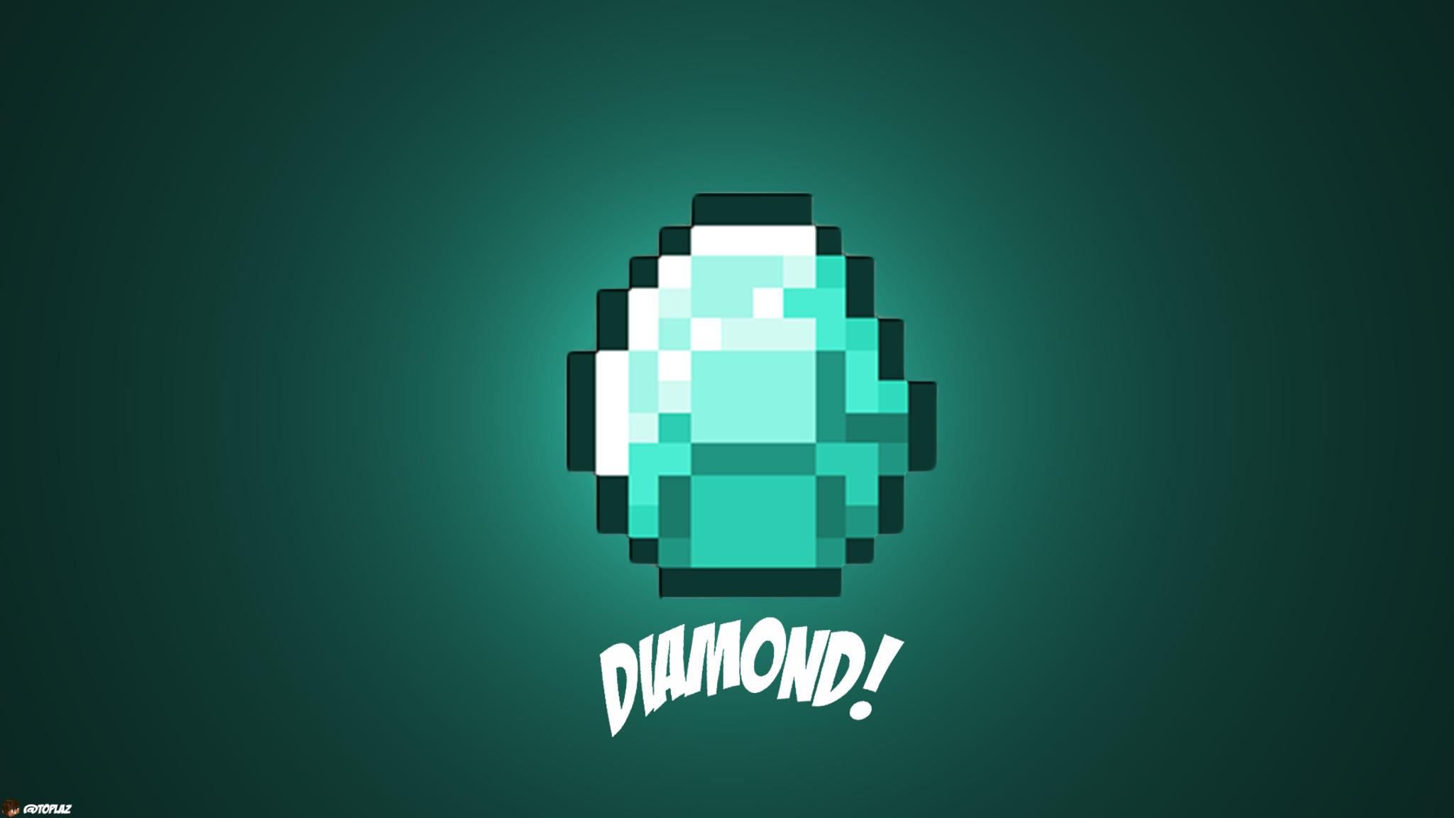 2048x1152 Diamond Minecraft 2048x1152 Resolution Hd 4k Wallpapers