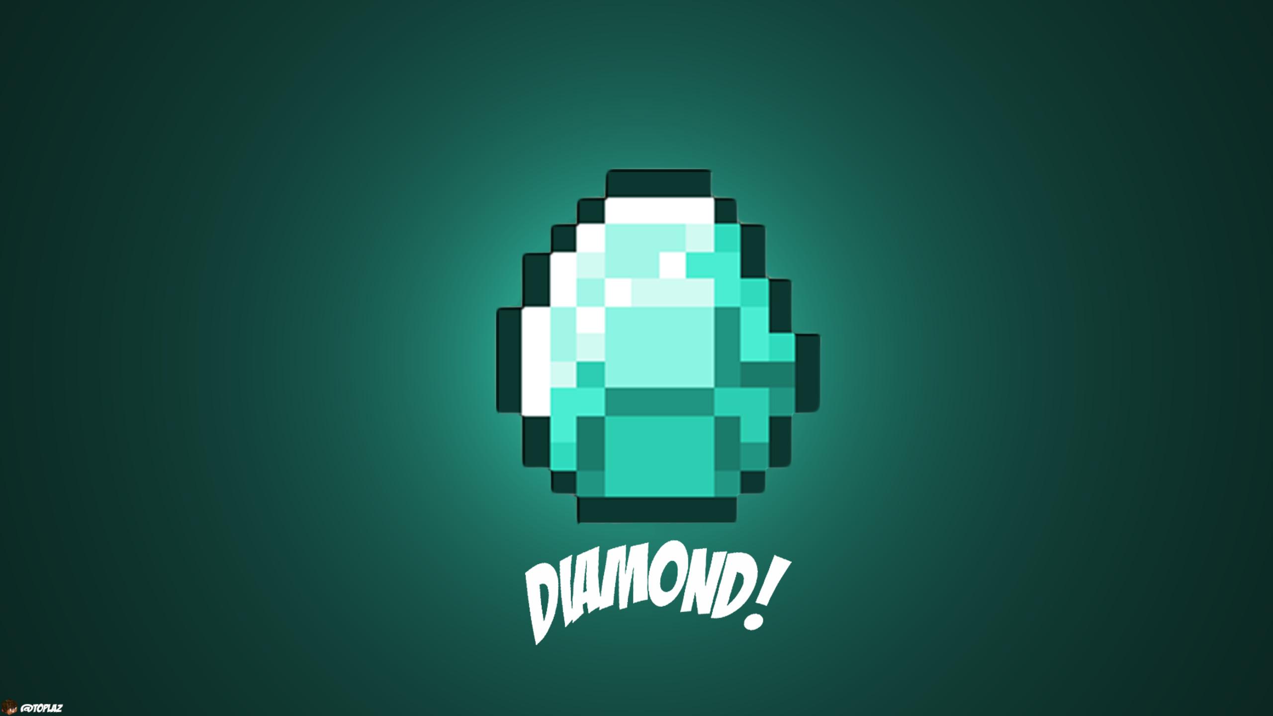 2560x1440 diamond minecraft 1440p resolution hd 4k