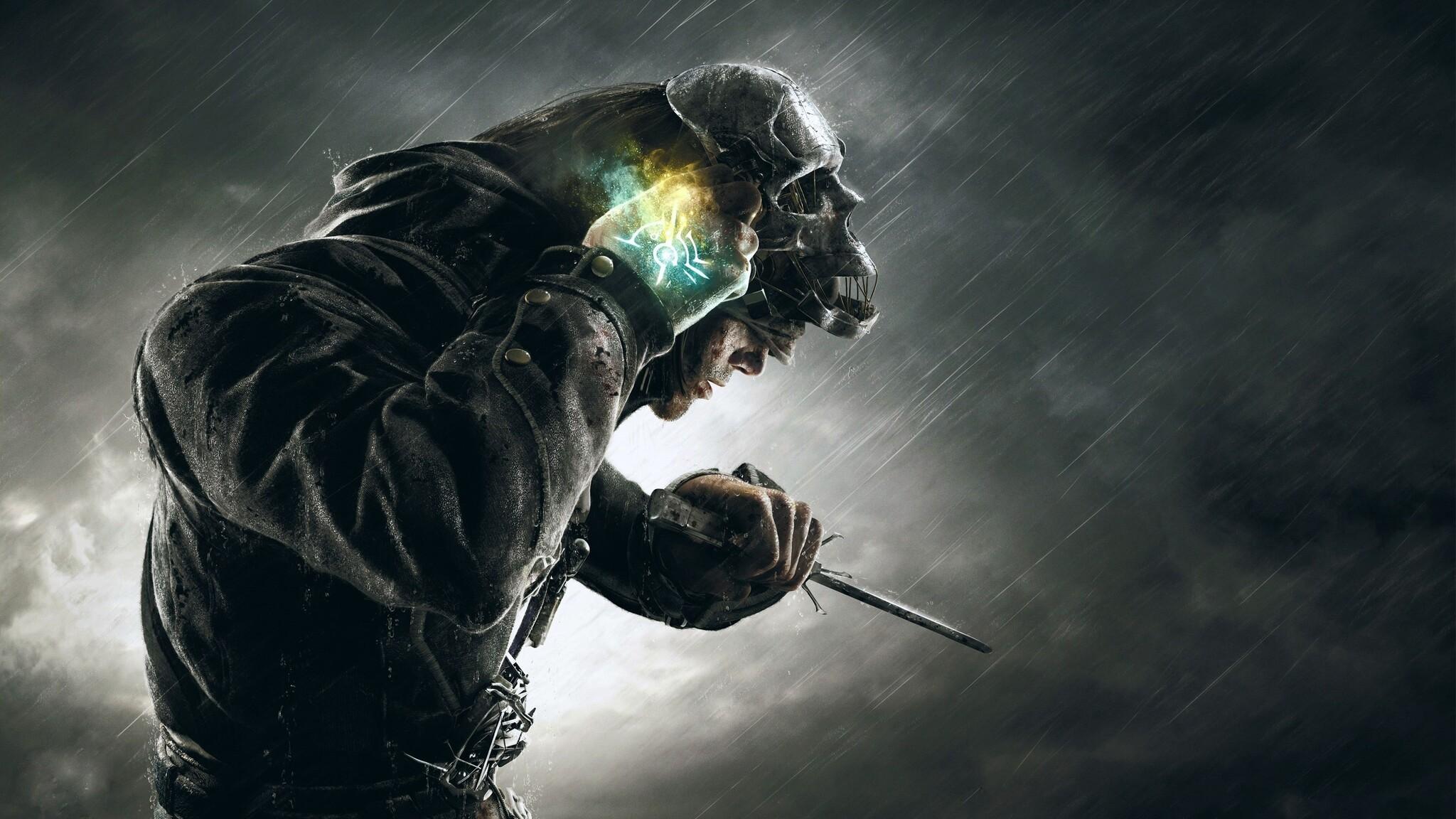 2048x1152 Dishonored Corvo Skull Mask 2048x1152 Resolution ...