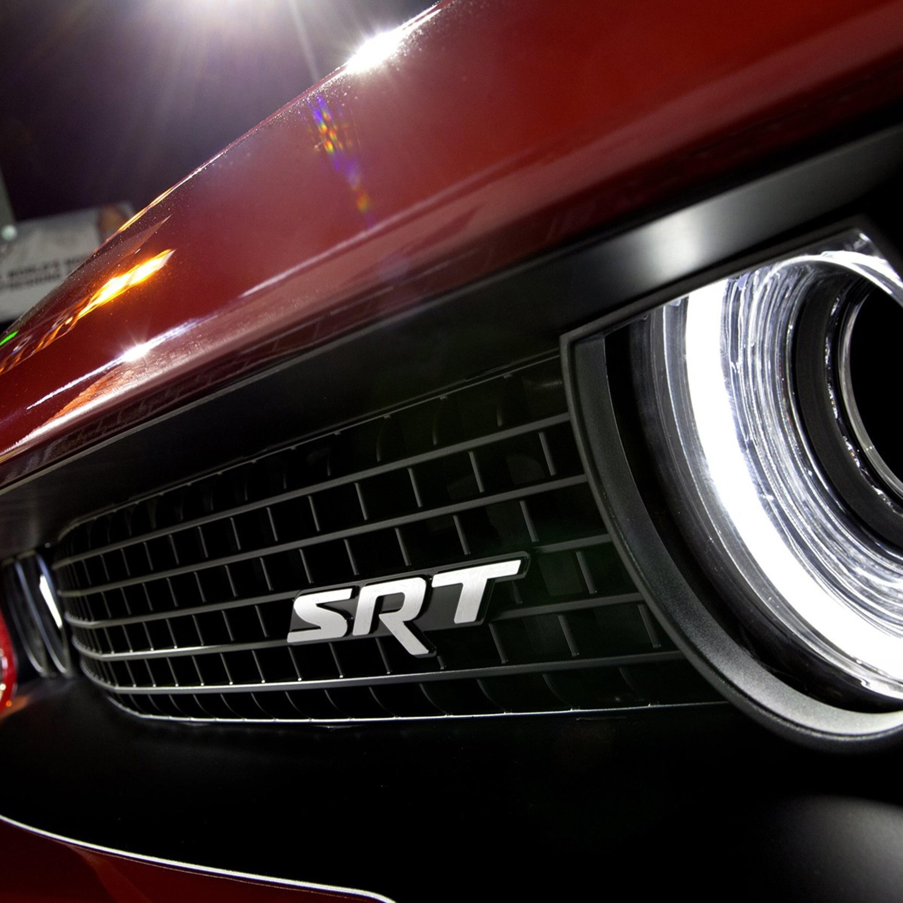 Dodge Car Wallpaper: 2932x2932 Dodge Challenger SRT Logo Ipad Pro Retina