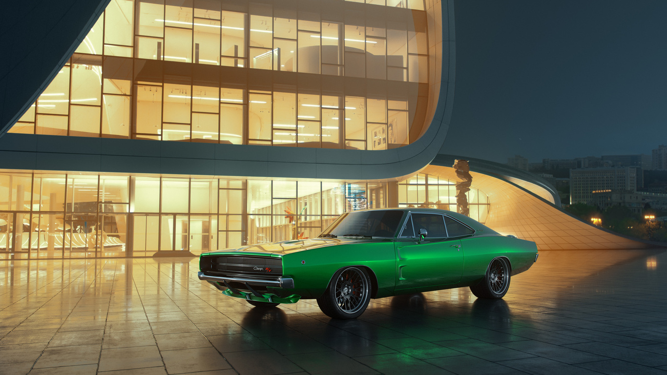 1366x768 Dodge Charger 1969 Rt 1366x768 Resolution Hd 4k