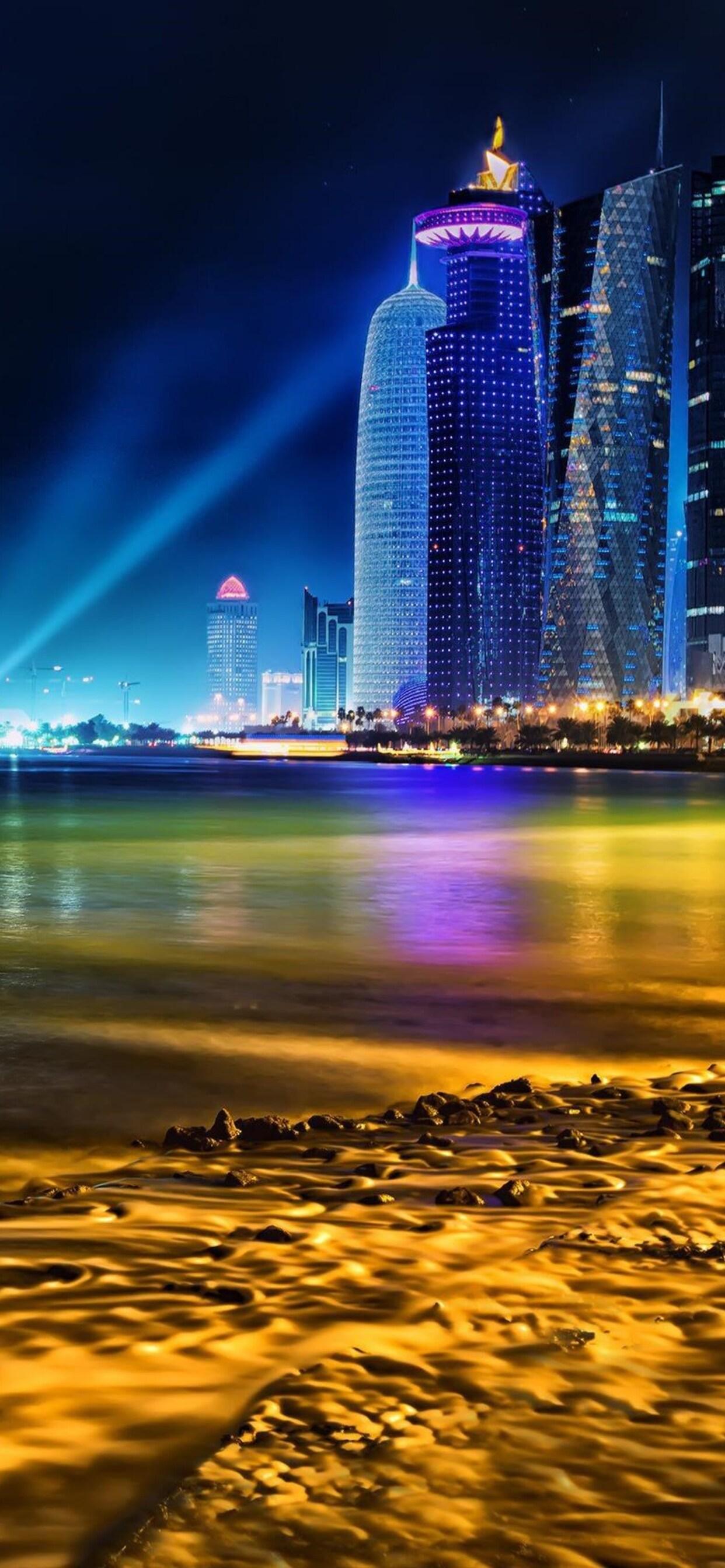 1242x2688 Doha Qatar Skyline Iphone Xs Max Hd 4k Wallpapers