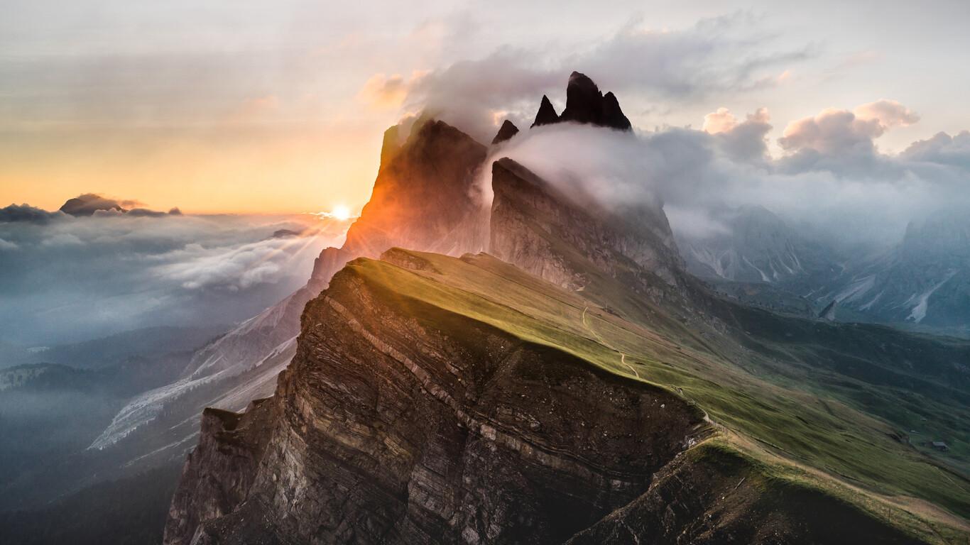 1366x768 Dolomites Mountain Range 5k Sony Bravia Tv Original Oled